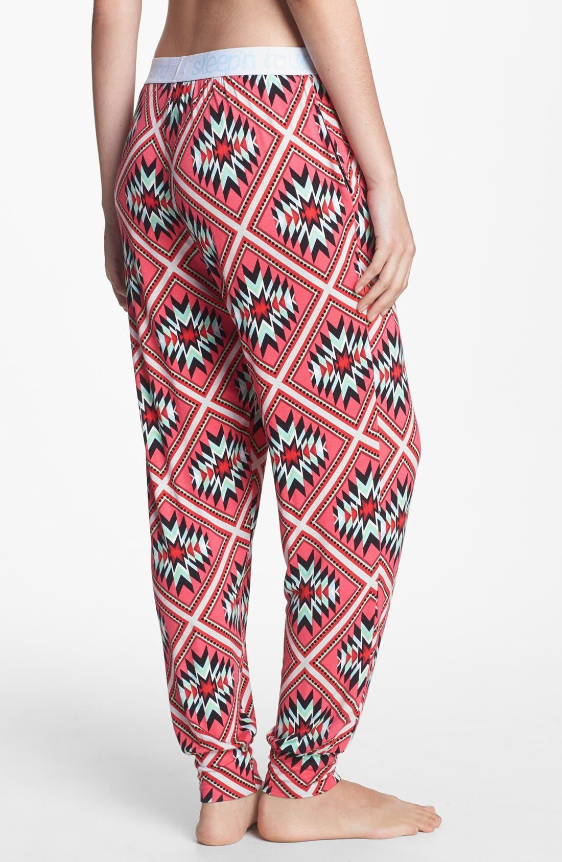 Alternate Image 2  - Sleep'N Round Harem Pajama Pants