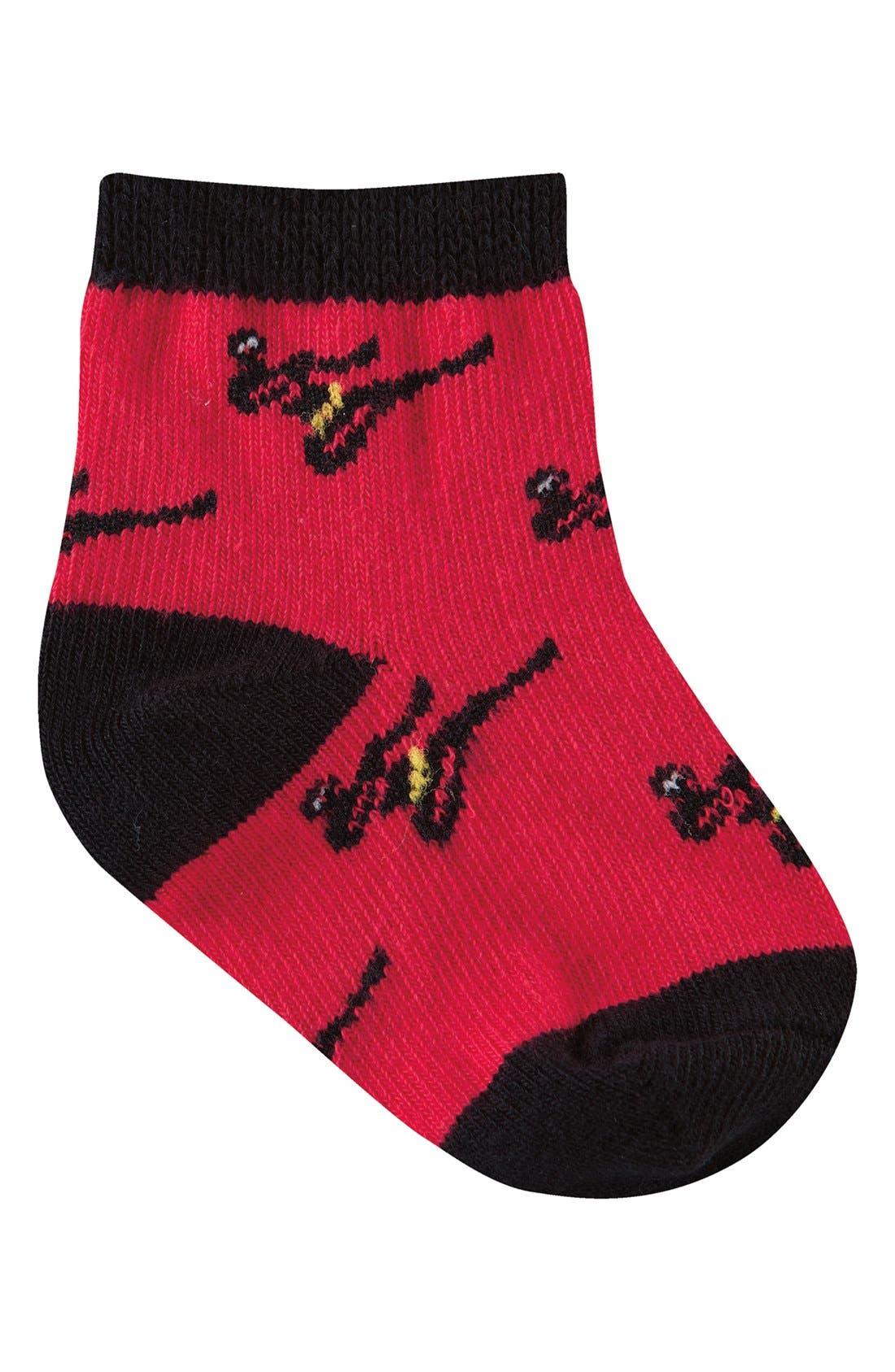 Alternate Image 5  - Sock It to Me 'Monkey, Mustache, Robot & Ninja' Socks (Set of 4) (Baby)