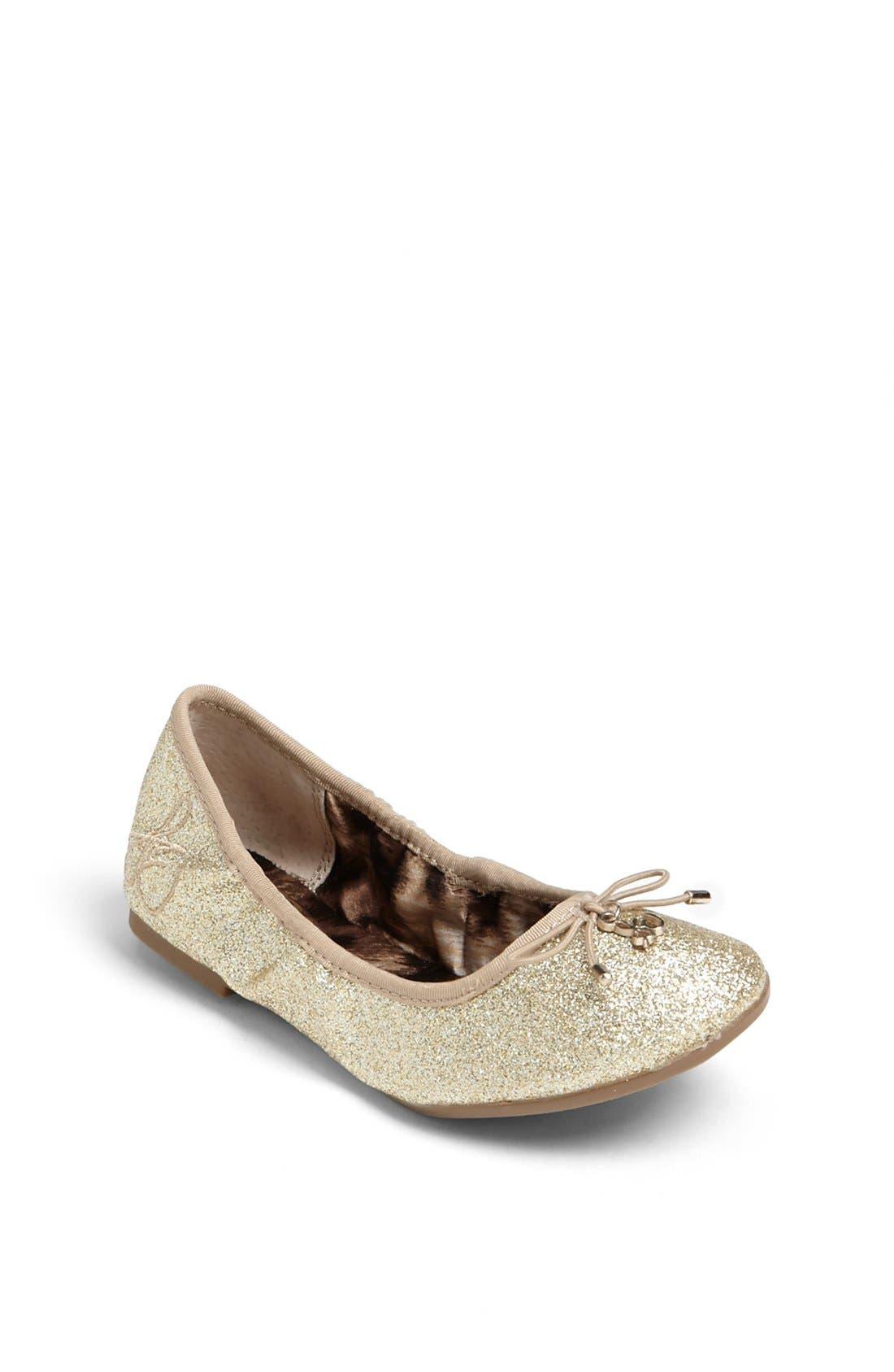 Main Image - Sam Edelman 'Fiona' Glitter Ballerina Flat (Toddler, Little Kid & Big Kid)
