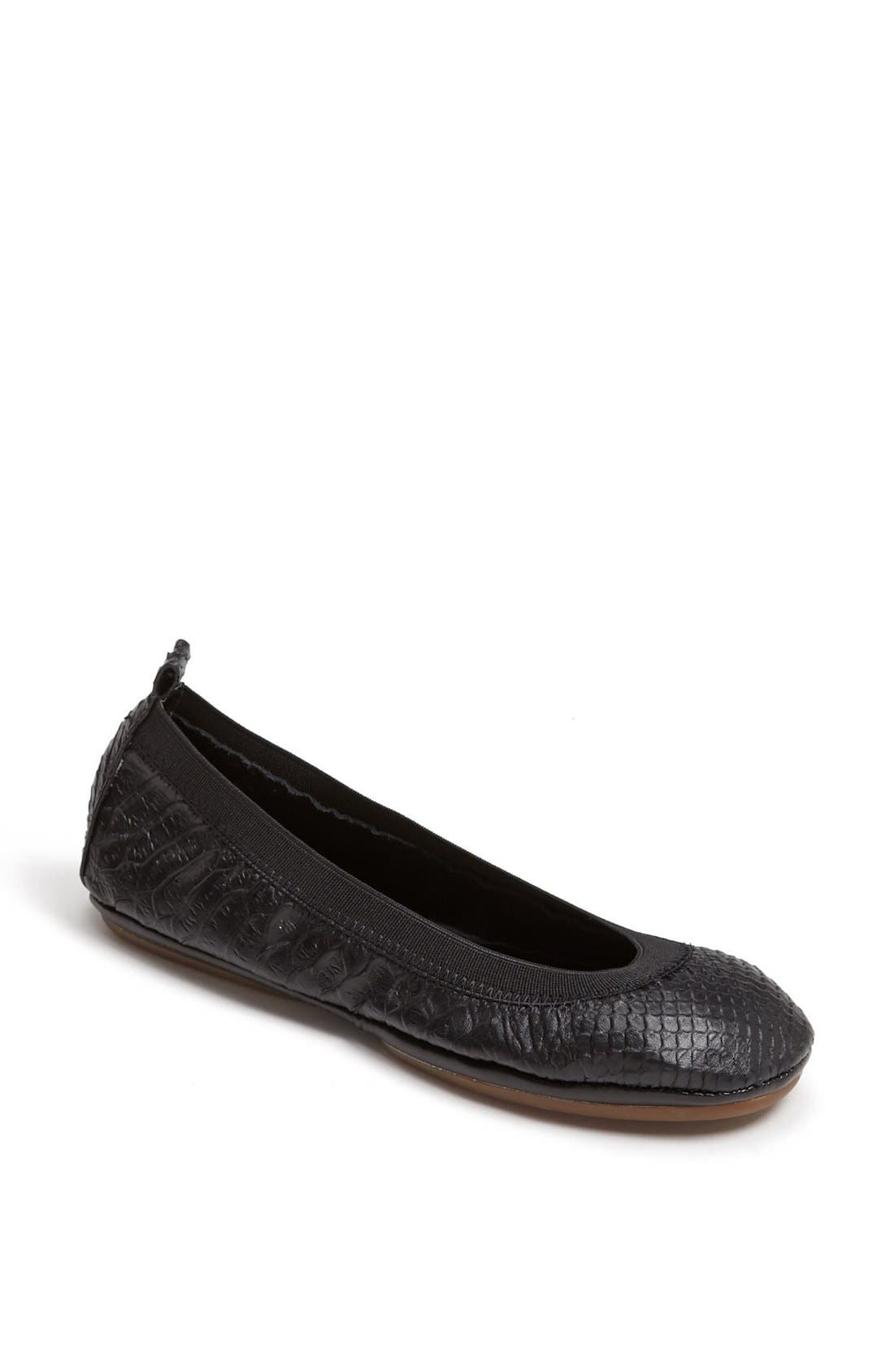 Alternate Image 1 Selected - Yosi Samra Croc Embossed Foldable Ballet Flat