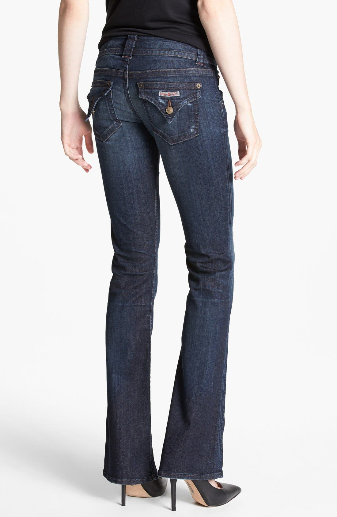 Alternate Image 2  - Hudson Jeans Distressed Signature Bootcut Jeans (Escape)