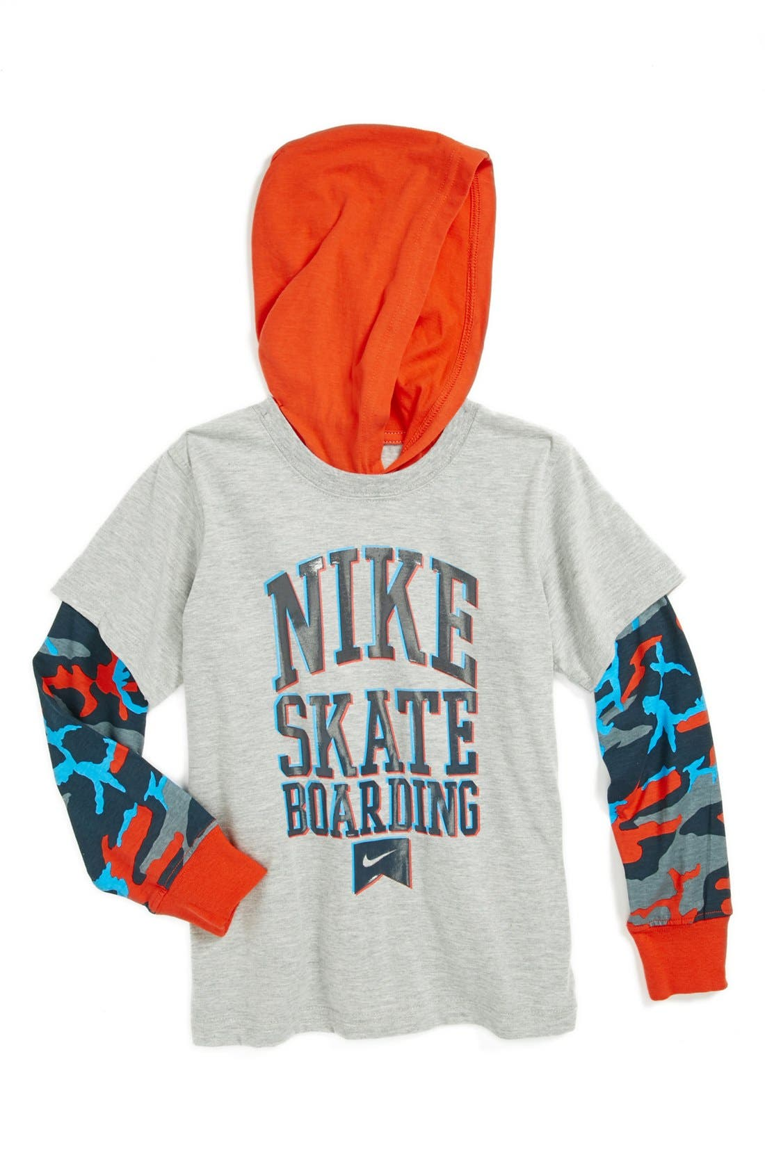 Alternate Image 1 Selected - Nike Hooded T-Shirt (Little Boys)