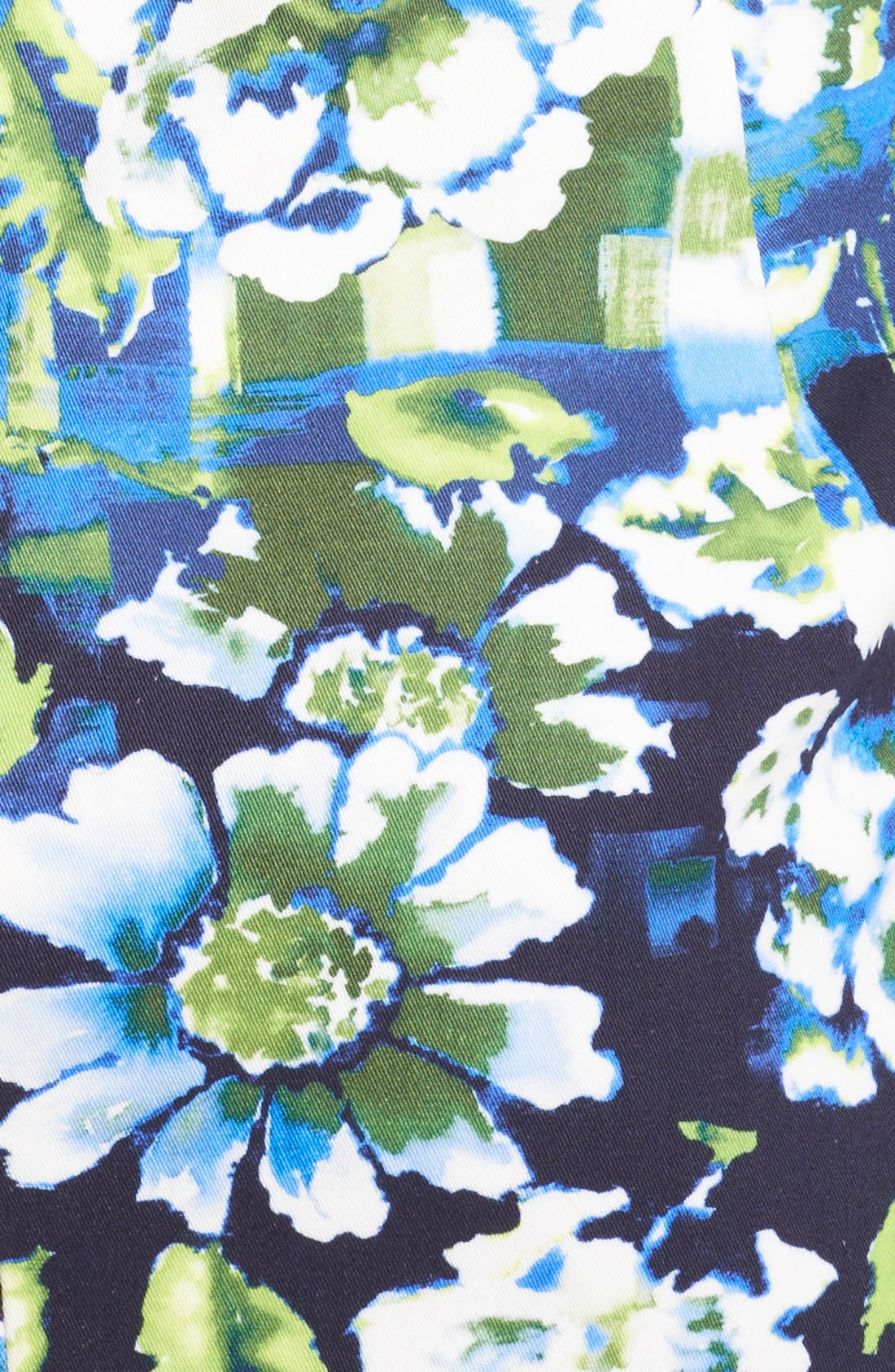 Alternate Image 3  - Oscar de la Renta Painted Floral Print Sheath Dress