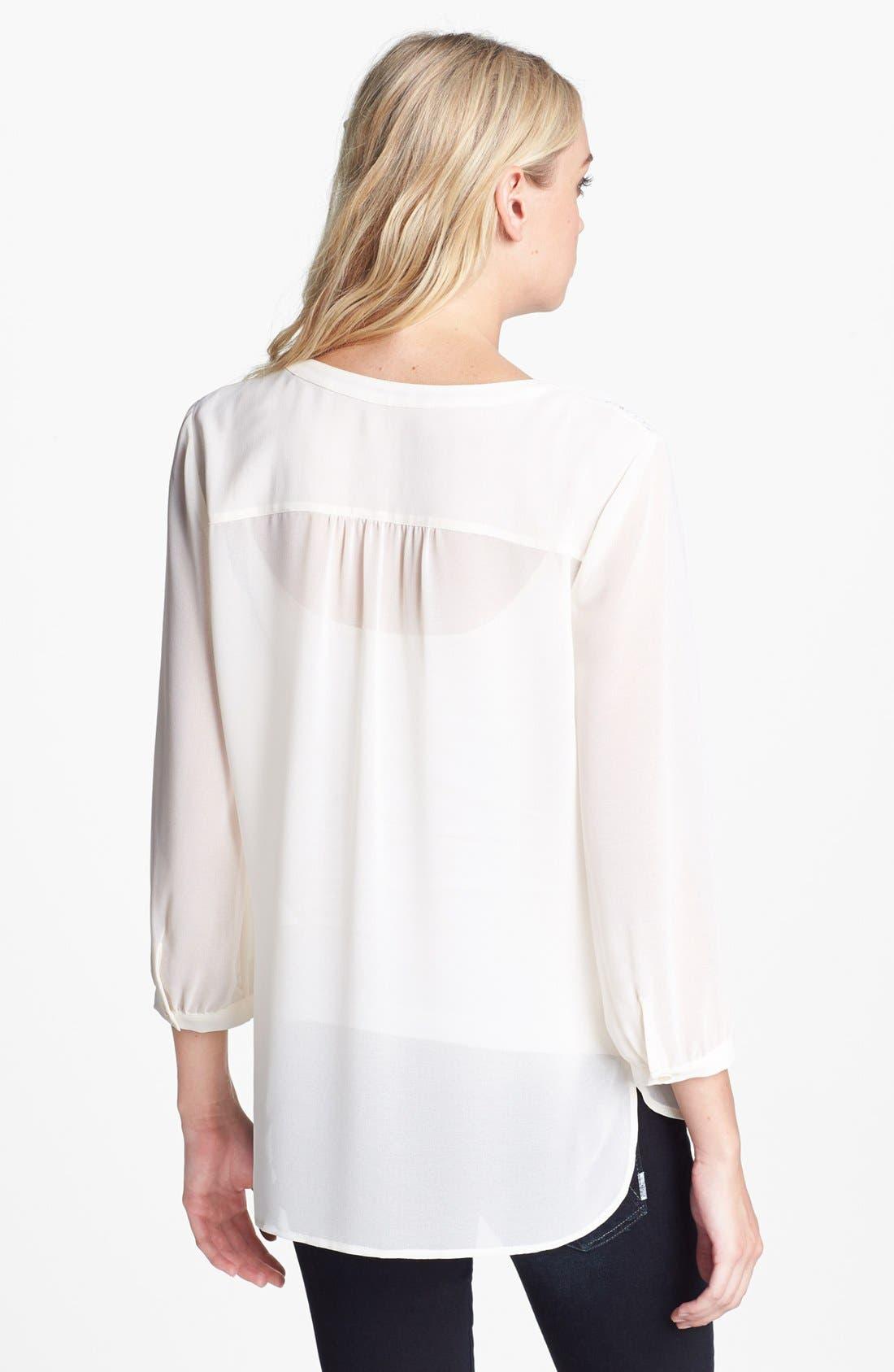 Alternate Image 2  - Hinge® Lace Shoulder Peasant Top