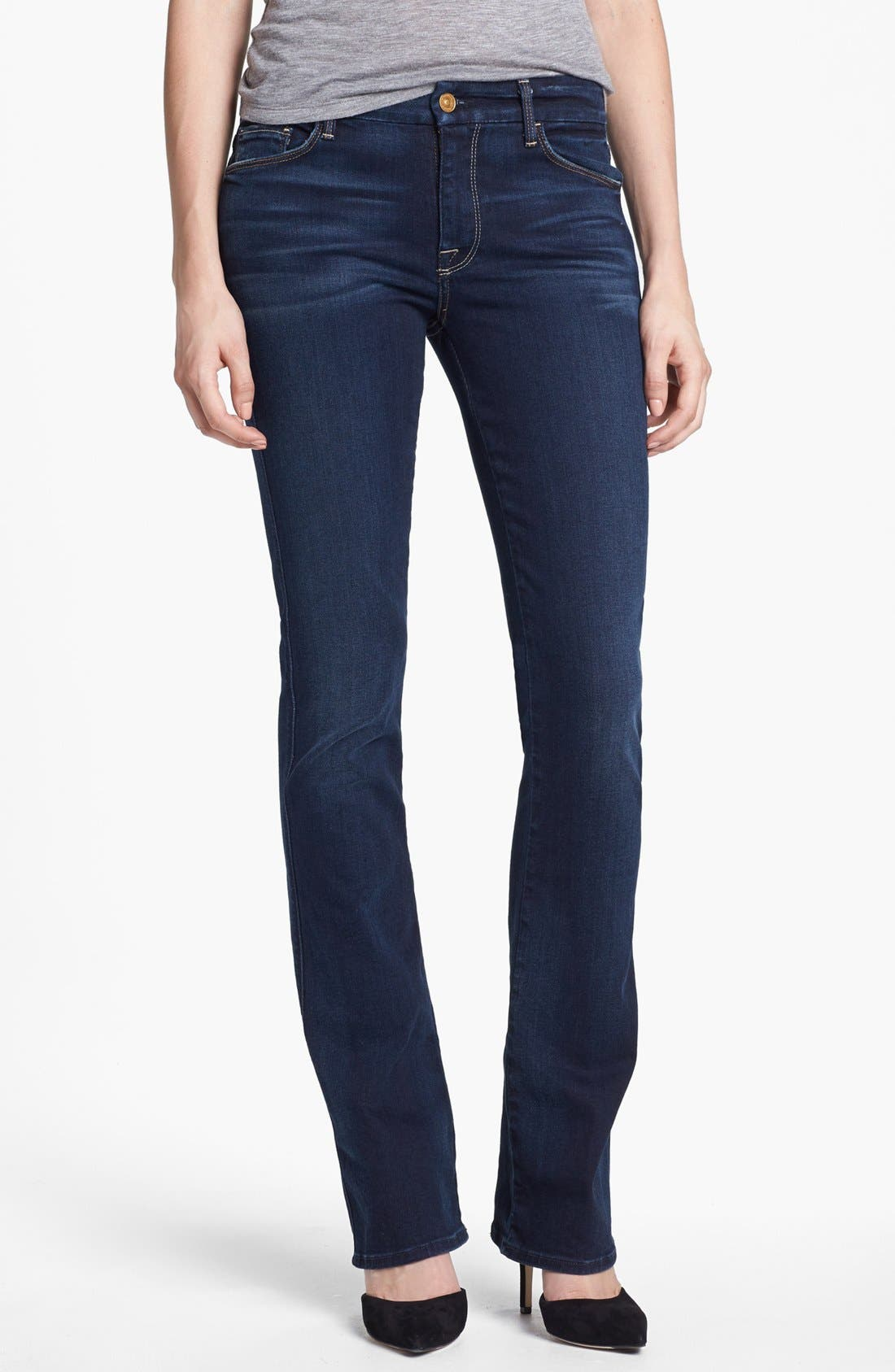 Alternate Image 1 Selected - 7 For All Mankind® 'The Skinny' Bootcut Jeans (Merci Blue)