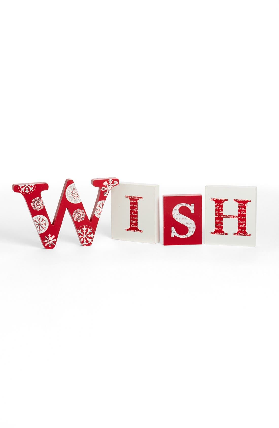 Alternate Image 1 Selected - K & K Interiors 'Wish' Wood Blocks