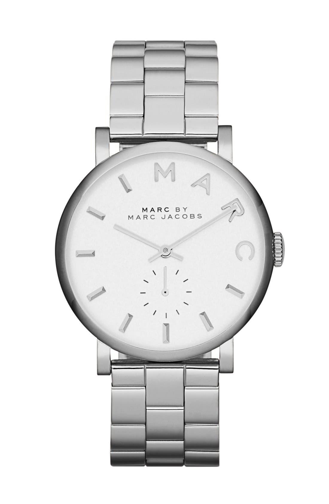Alternate Image 1 Selected - MARC JACOBS 'Baker' Bracelet Watch, 37mm