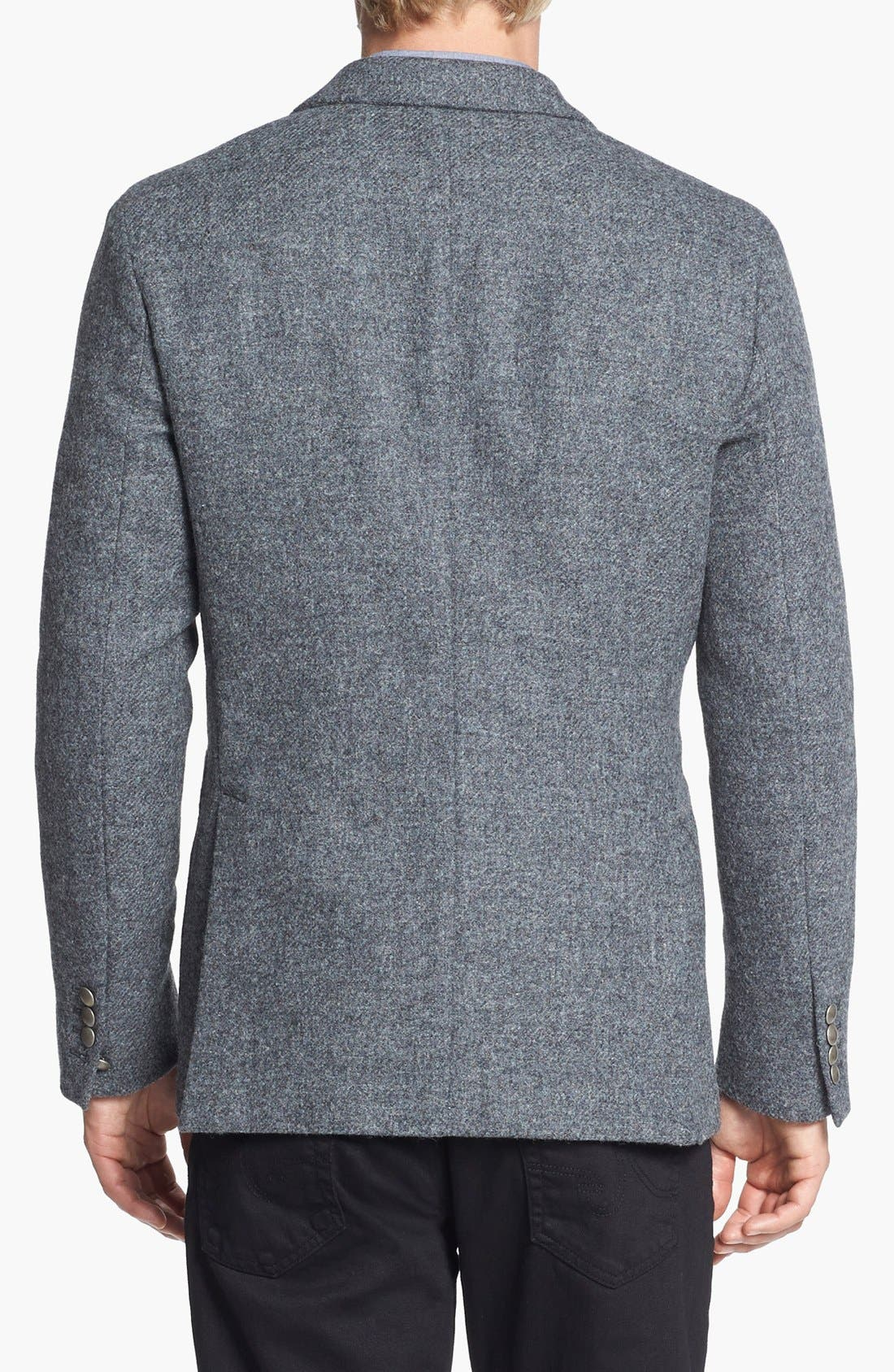 Alternate Image 2  - Kent and Curwen 'Worthington' Double Breasted Shetland Wool Sportcoat