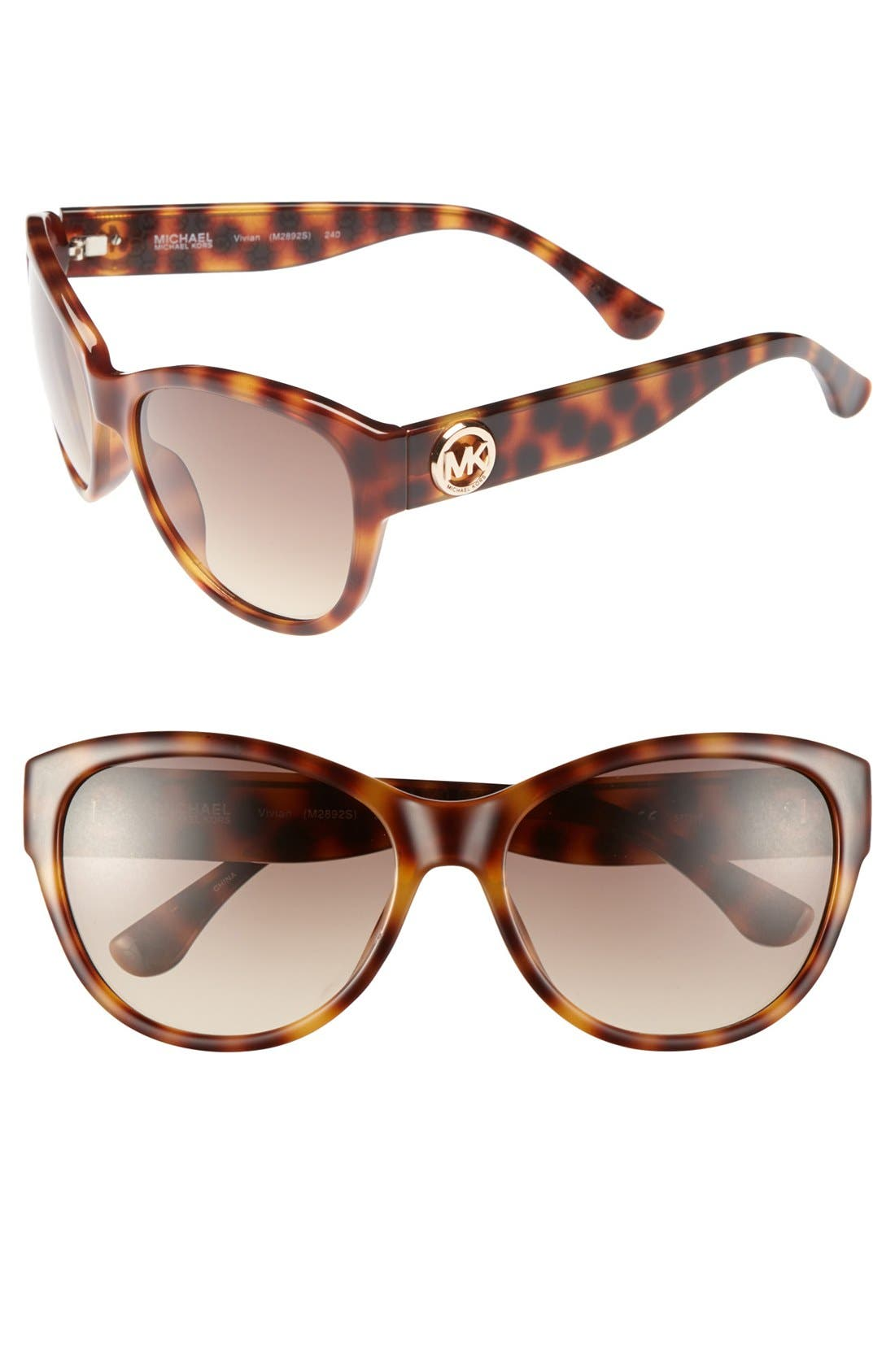 Alternate Image 1 Selected - MICHAEL Michael Kors 'Vivian' 57mm Sunglasses