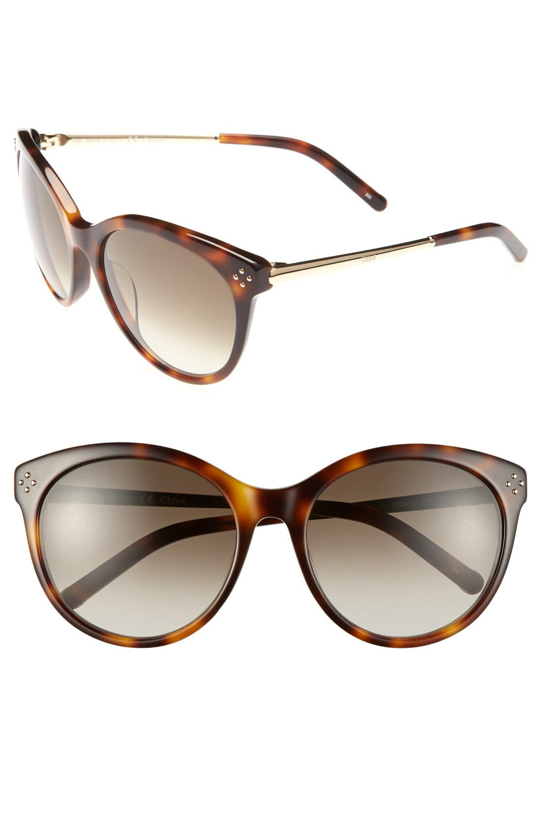 Alternate Image 1 Selected - Chloé 'Boxwood' 56mm Sunglasses