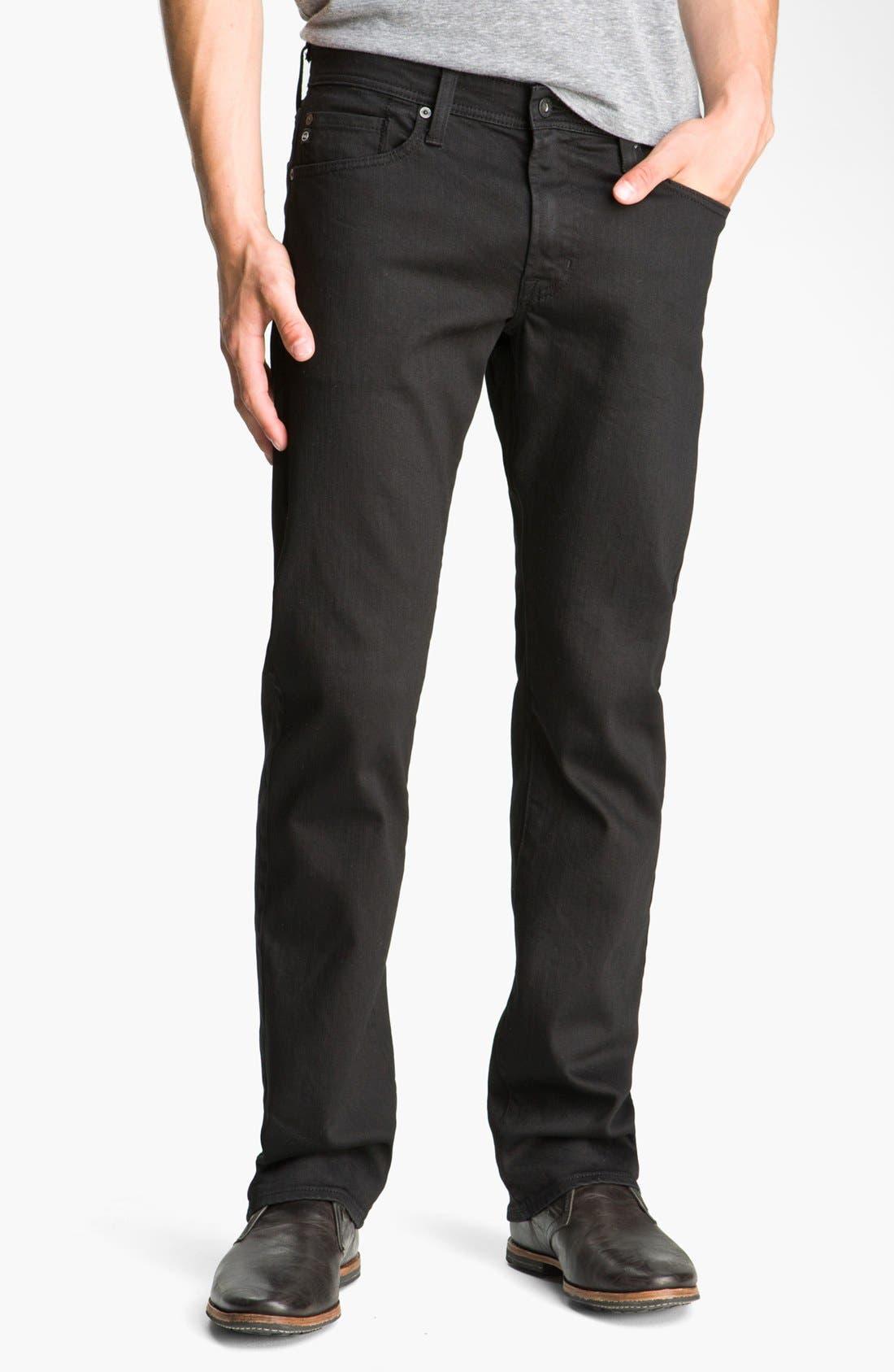 Alternate Image 1 Selected - AG 'Protégé' Straight Leg Jeans (Black Overdye)