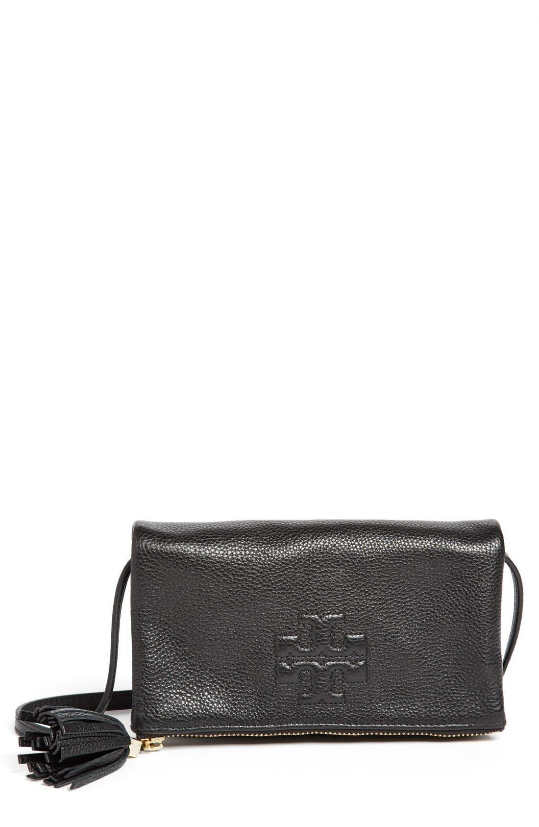 Main Image - Tory Burch 'Thea - Mini' Foldover Crossbody Bag