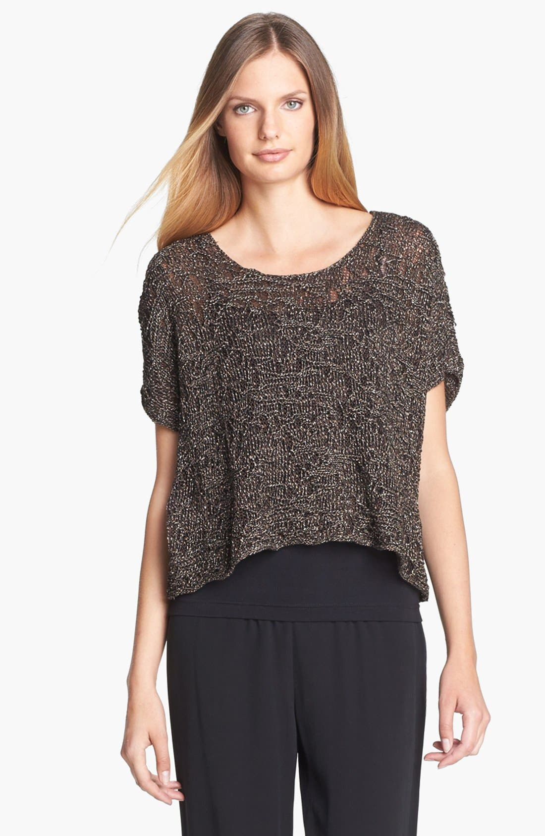 Alternate Image 1 Selected - Eileen Fisher Sparkle Jacquard Top