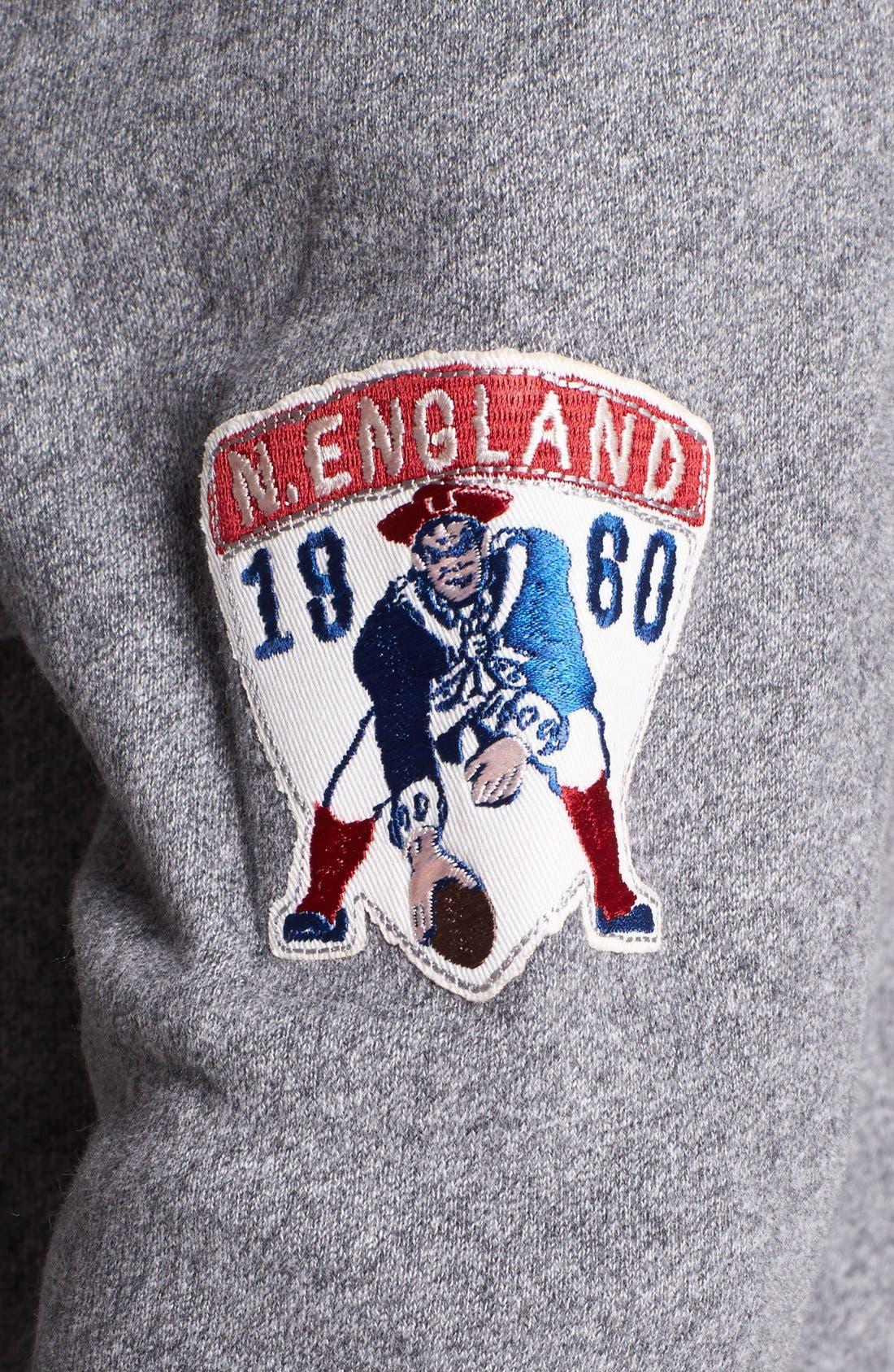 Alternate Image 3  - Junk Food 'New England Patriots - Sunday' Zip Hoodie