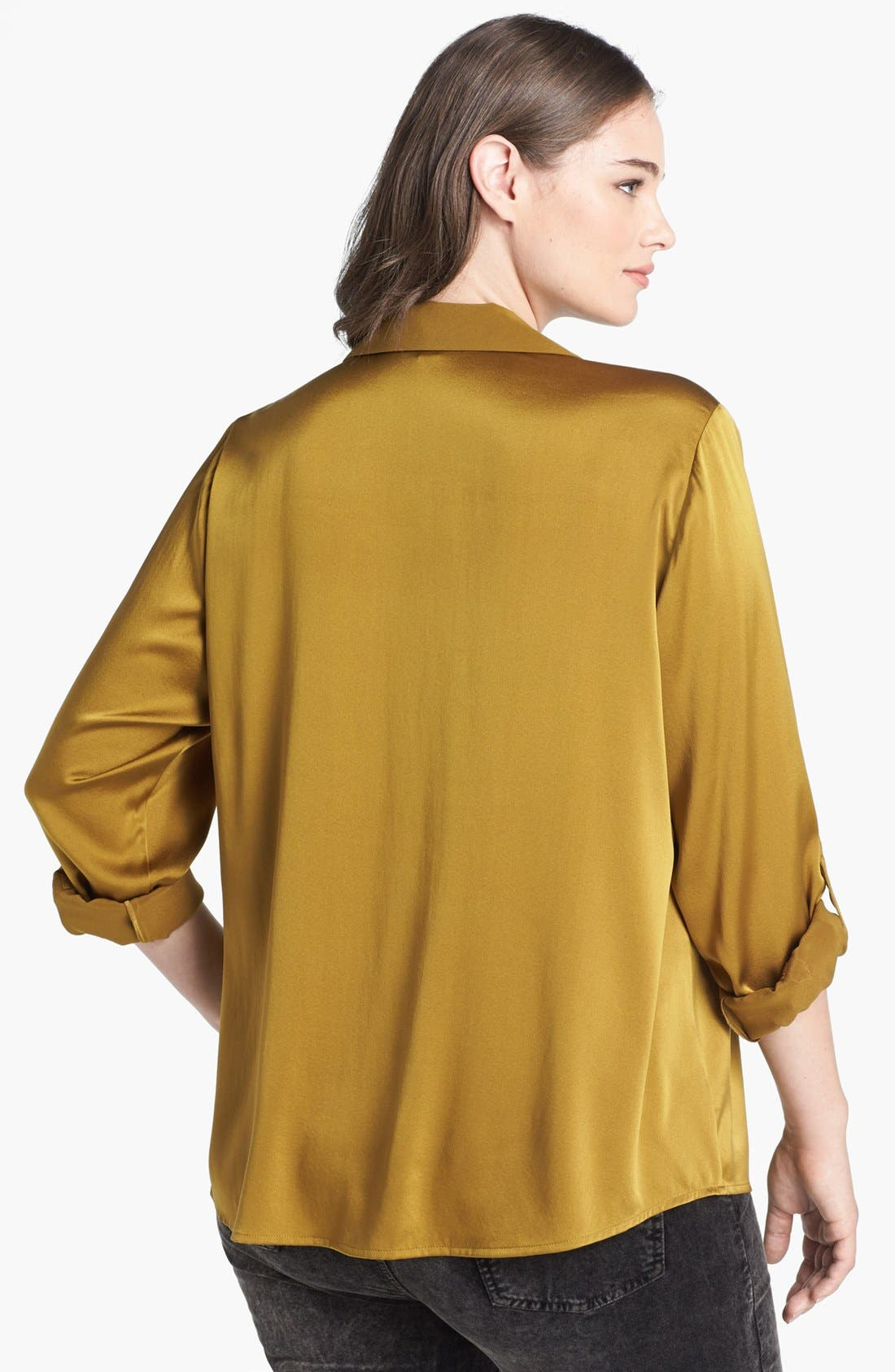 Alternate Image 2  - Eileen Fisher Stretch Silk Shirt (Plus Size)