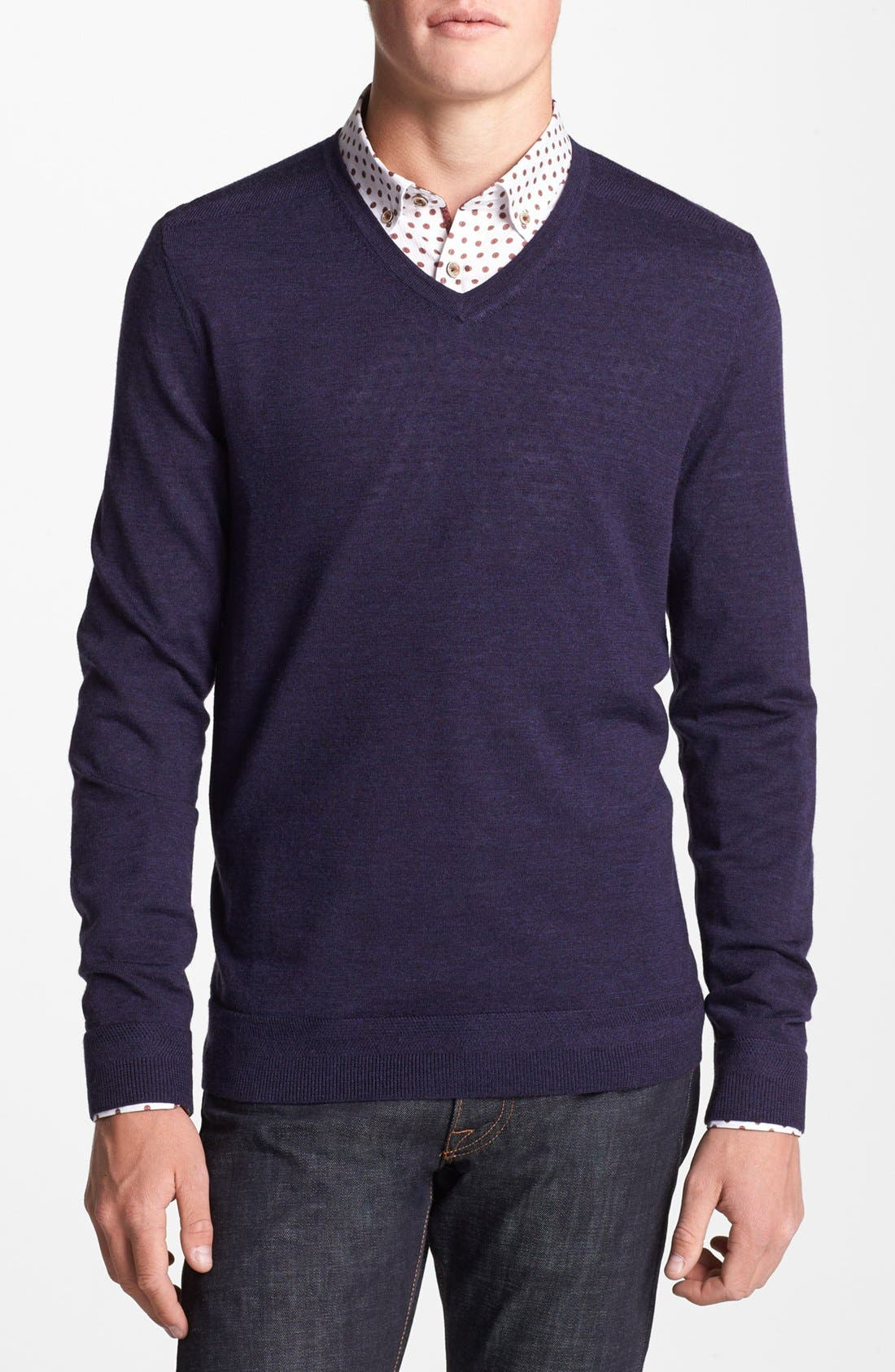 Main Image - Ted Baker London 'Bagbo' V-Neck Sweater