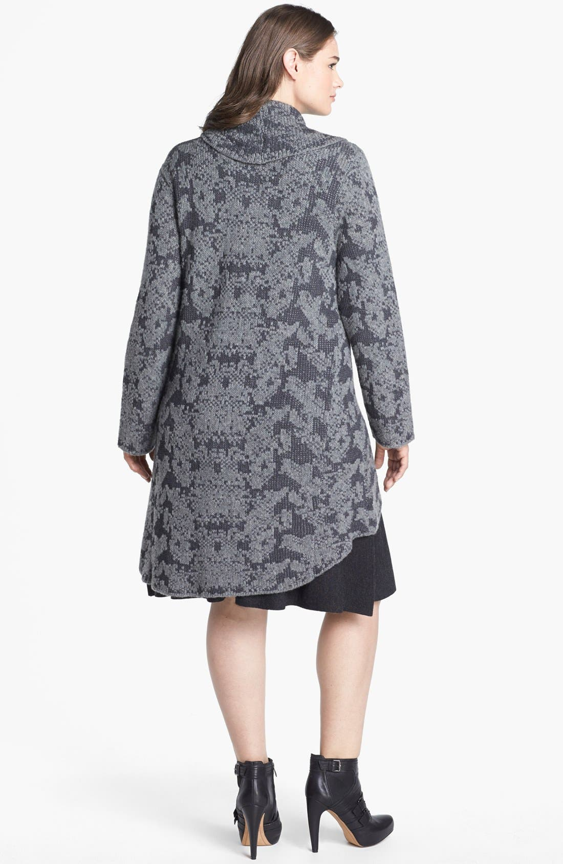 Alternate Image 2  - Eileen Fisher Shawl Collar Cardigan (Plus Size)