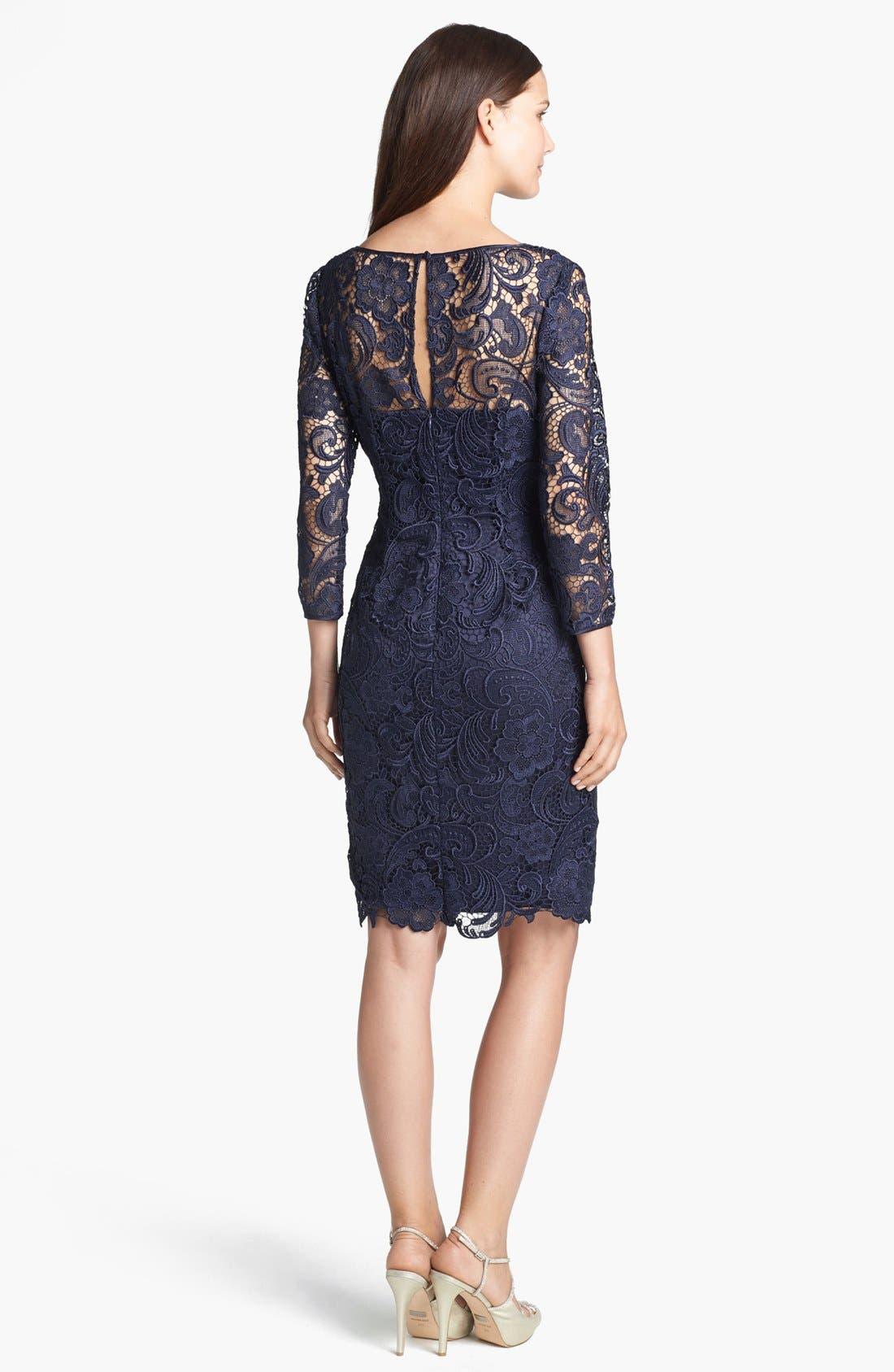 Alternate Image 2  - Adrianna Papell Guipure Lace Sheath Dress