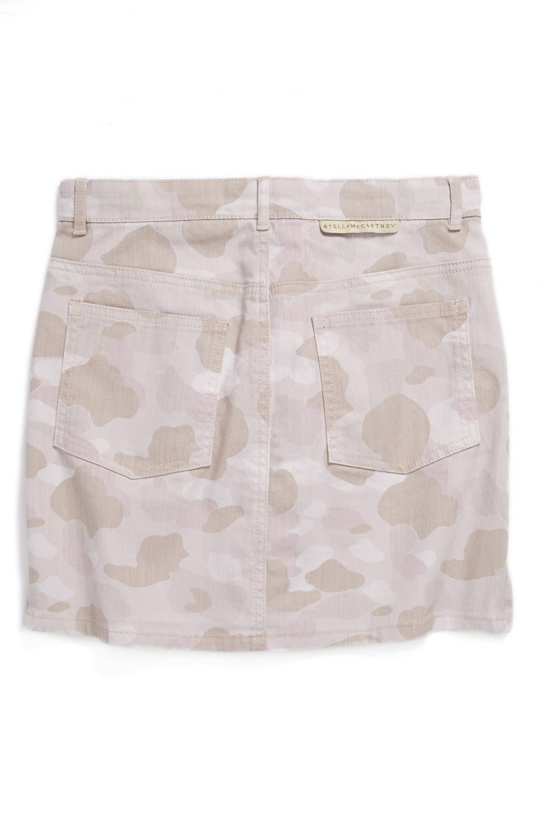 Alternate Image 2  - Stella McCartney Kids 'Emmie' Camo Denim Skirt (Toddler Girls, Little Girls & Big Girls)