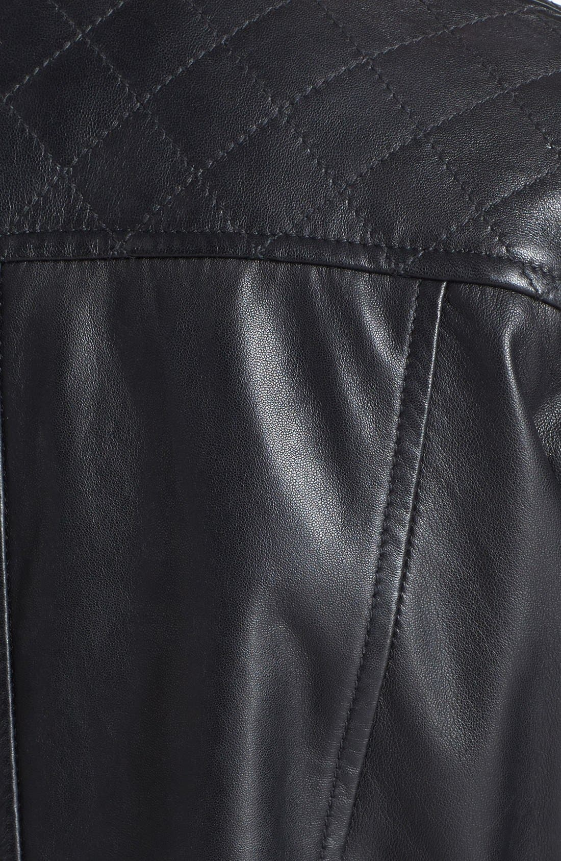 Alternate Image 3  - LaMarque Quilted Leather Biker Jacket