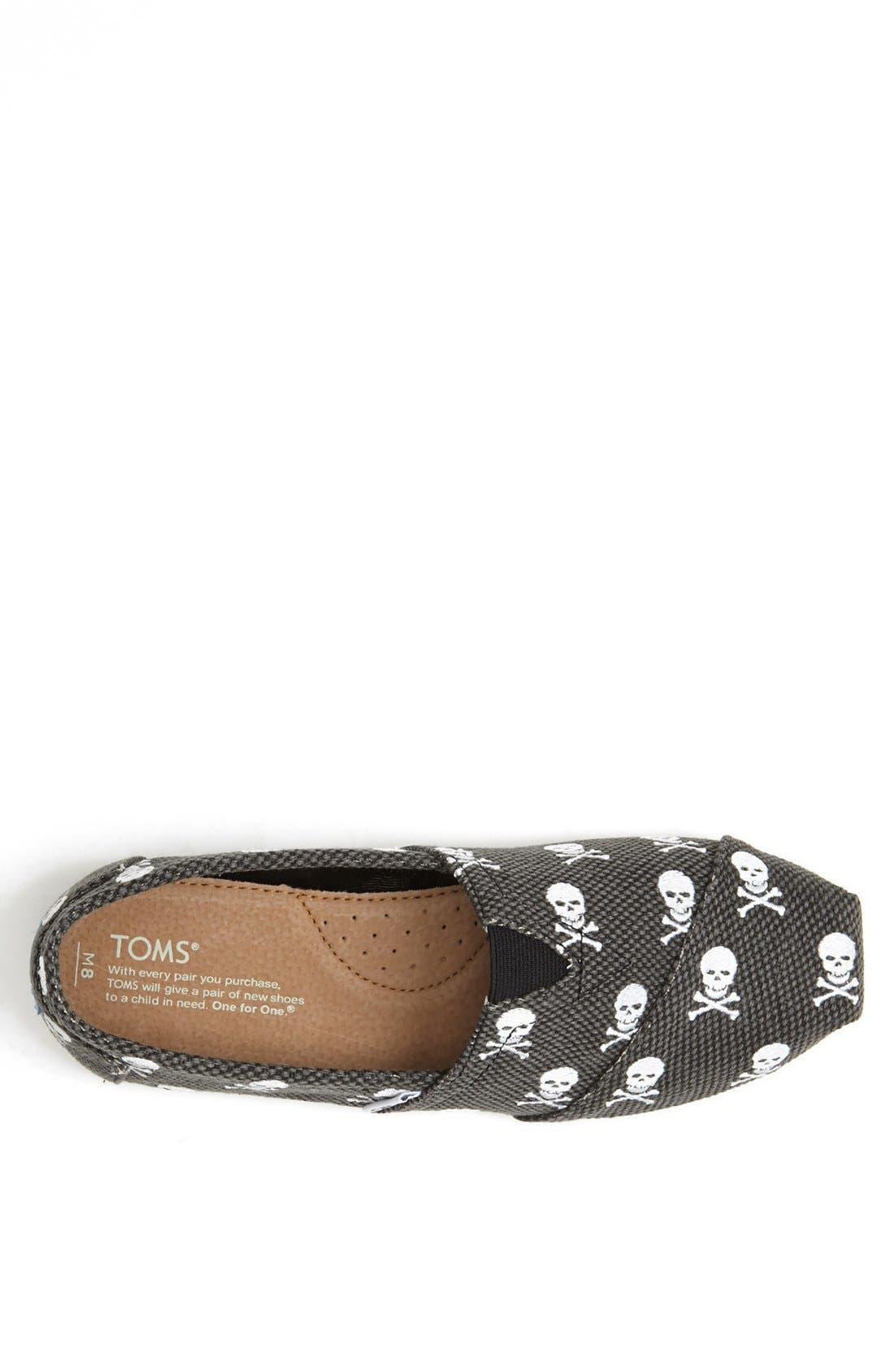 Alternate Image 3  - TOMS Embroidered Skull Slip-On   (Men)