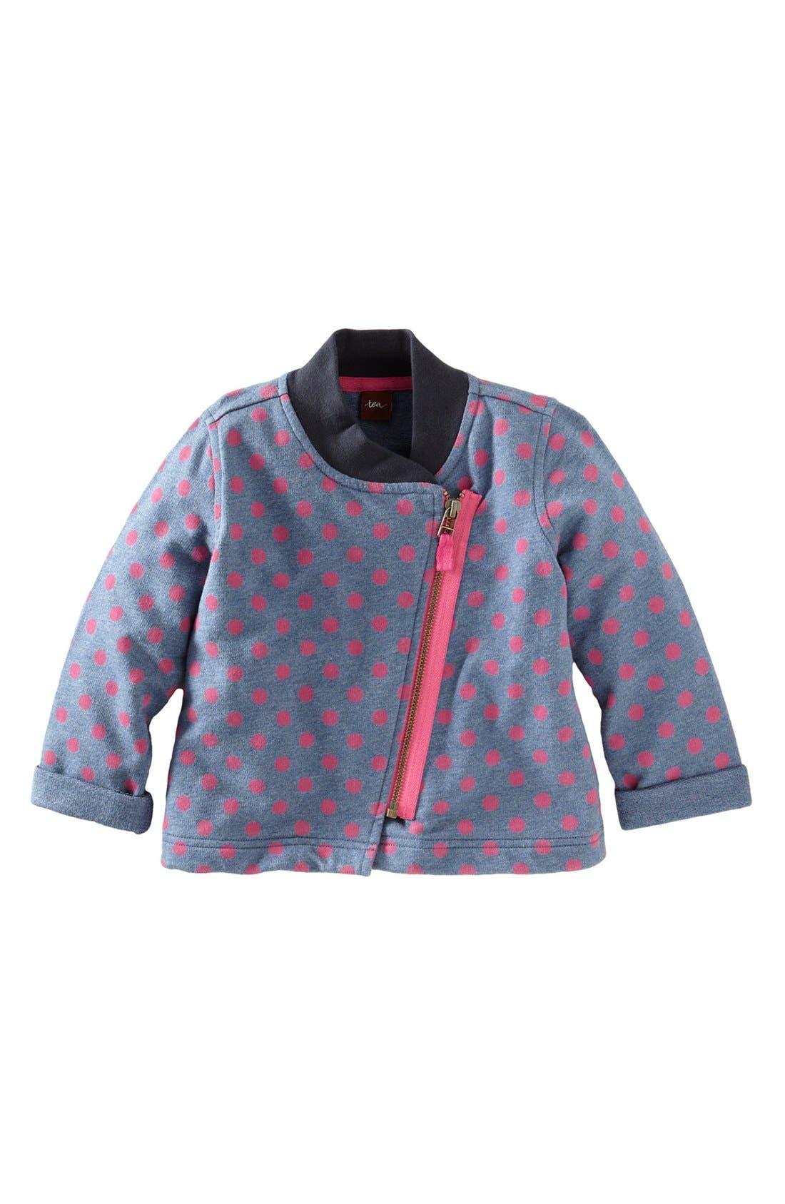 Alternate Image 1 Selected - Tea Collection Polka Dot Moto Jacket (Little Girls & Big Girls)