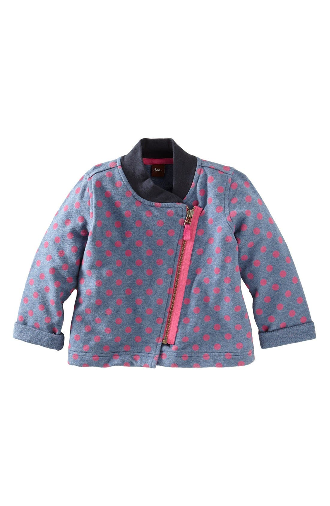 Main Image - Tea Collection Polka Dot Moto Jacket (Little Girls & Big Girls)