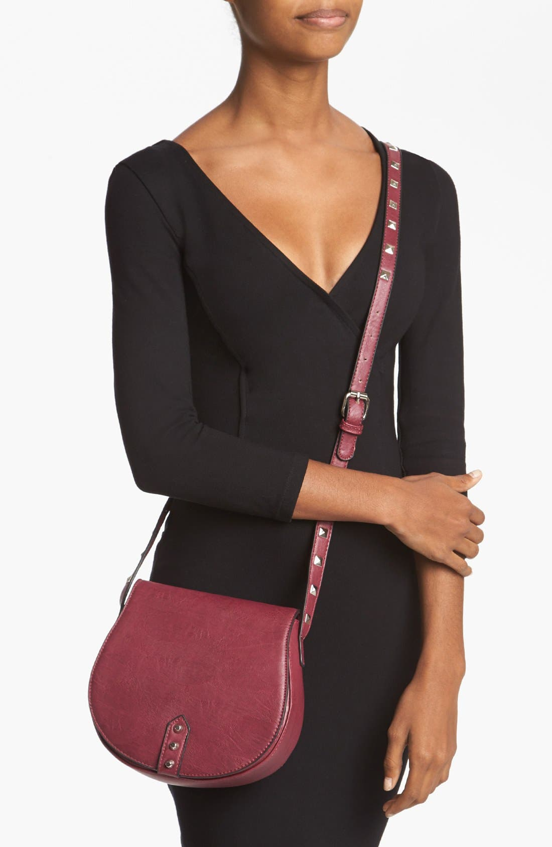 Alternate Image 2  - Emperia Faux Leather Crossbody Bag (Juniors)