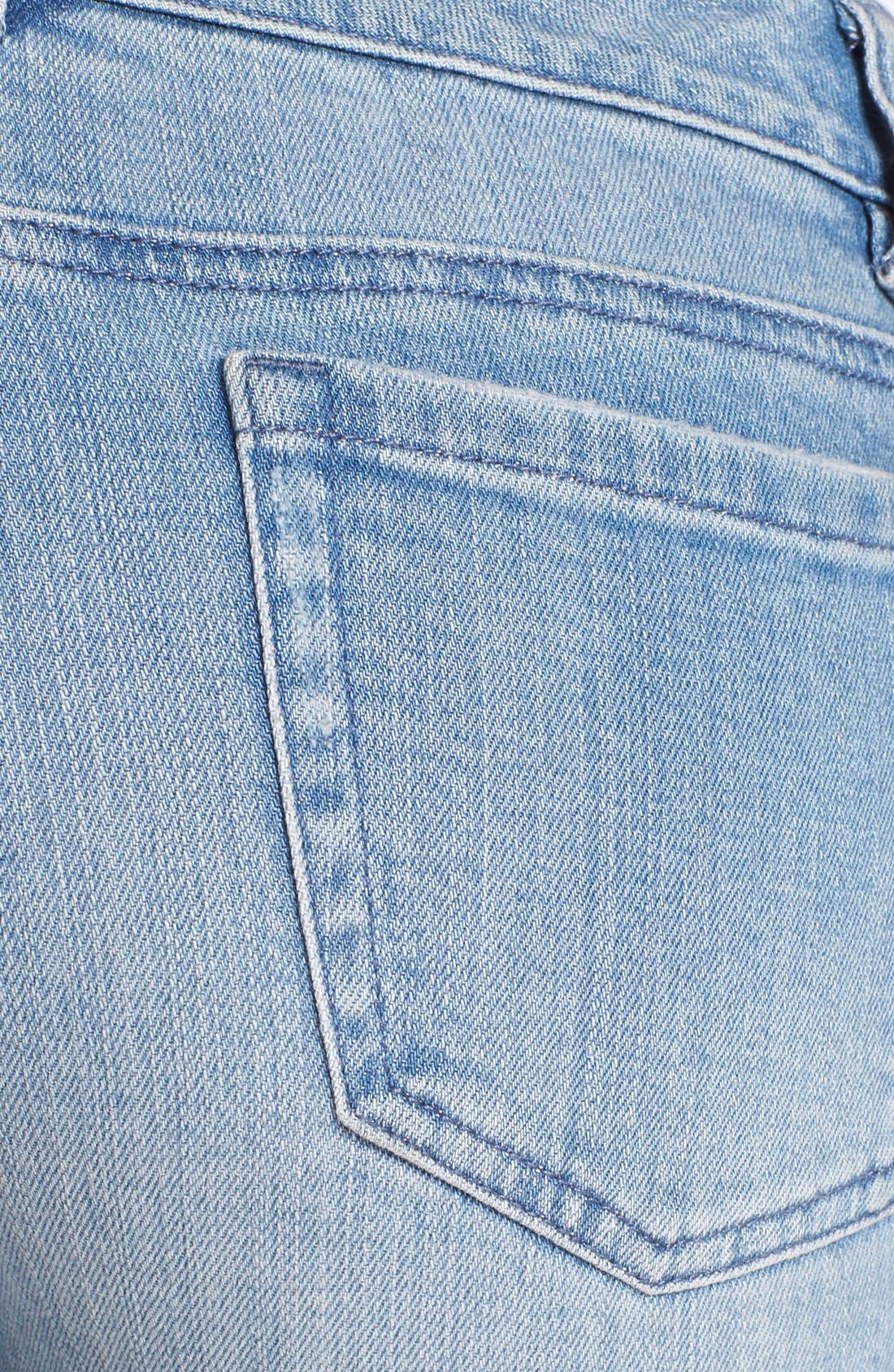 Alternate Image 3  - MICHAEL Michael Kors Zip Detail Skinny Jeans (Village Blue)