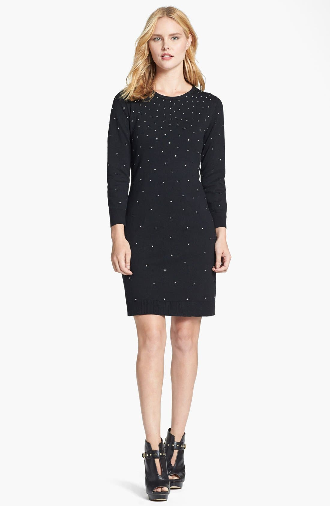 Alternate Image 1 Selected - MICHAEL Michael Kors Studded Dress (Regular & Petite)