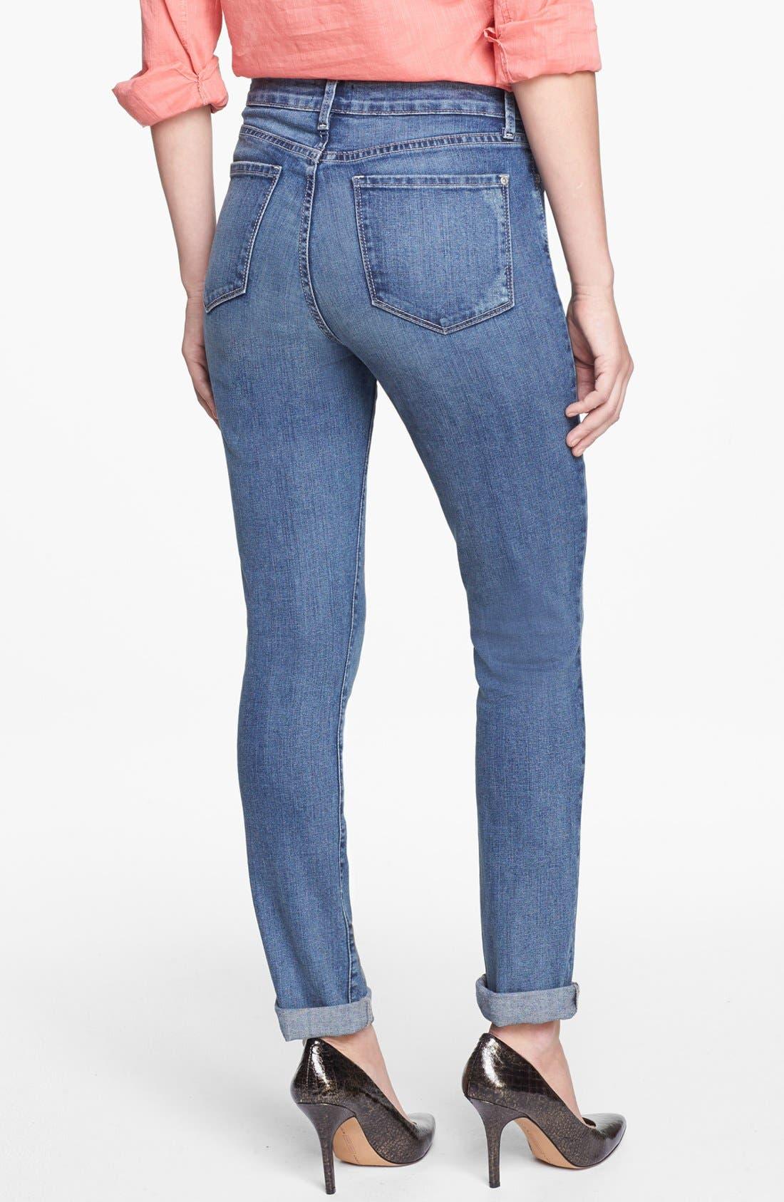 Alternate Image 2  - NYDJ 'Leann' Stretch Skinny Boyfriend Jeans (Lake Arrowhead) (Regular & Petite)