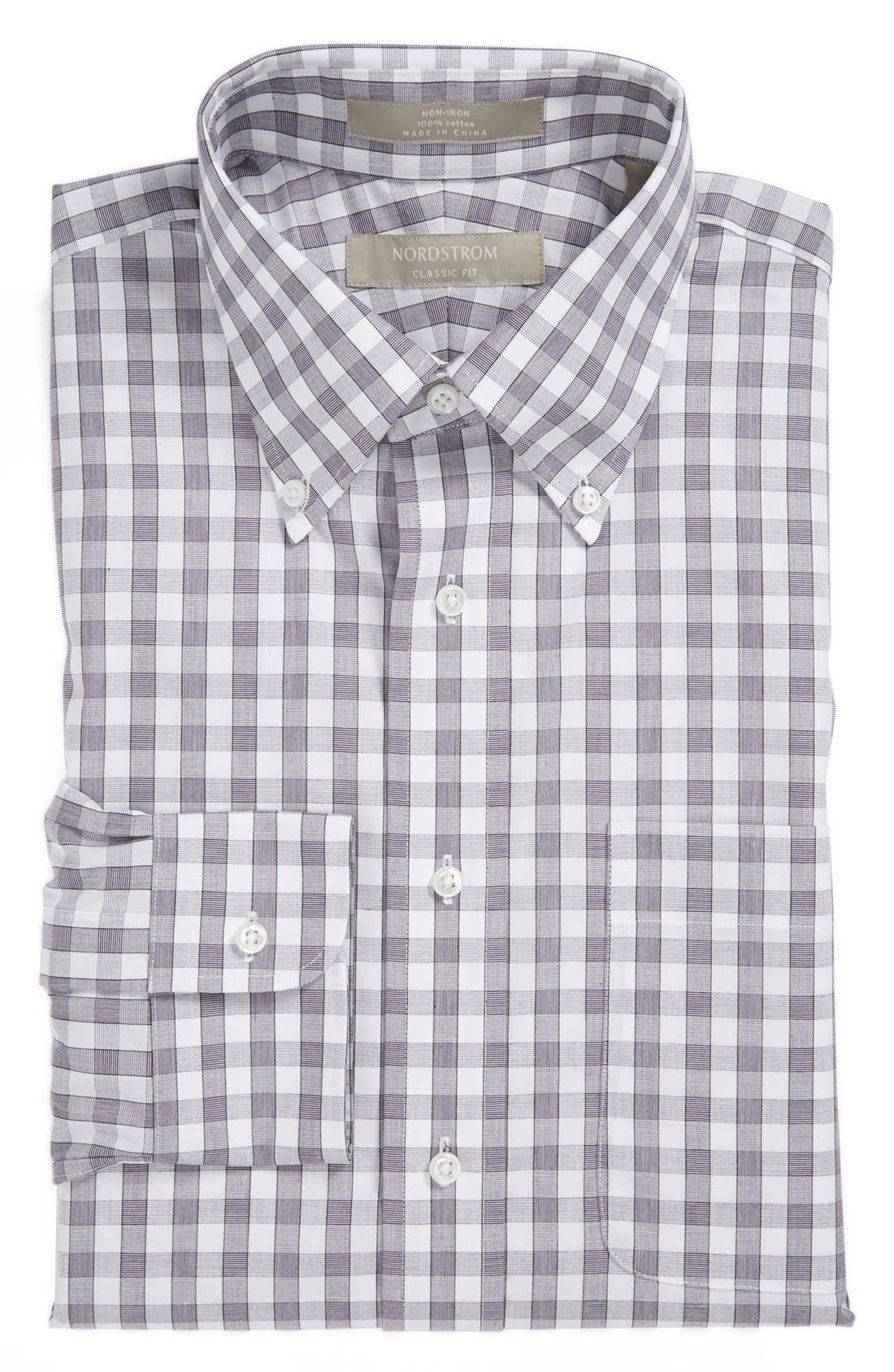 Main Image - Nordstrom Classic Fit Non-Iron Dress Shirt (Big & Tall)