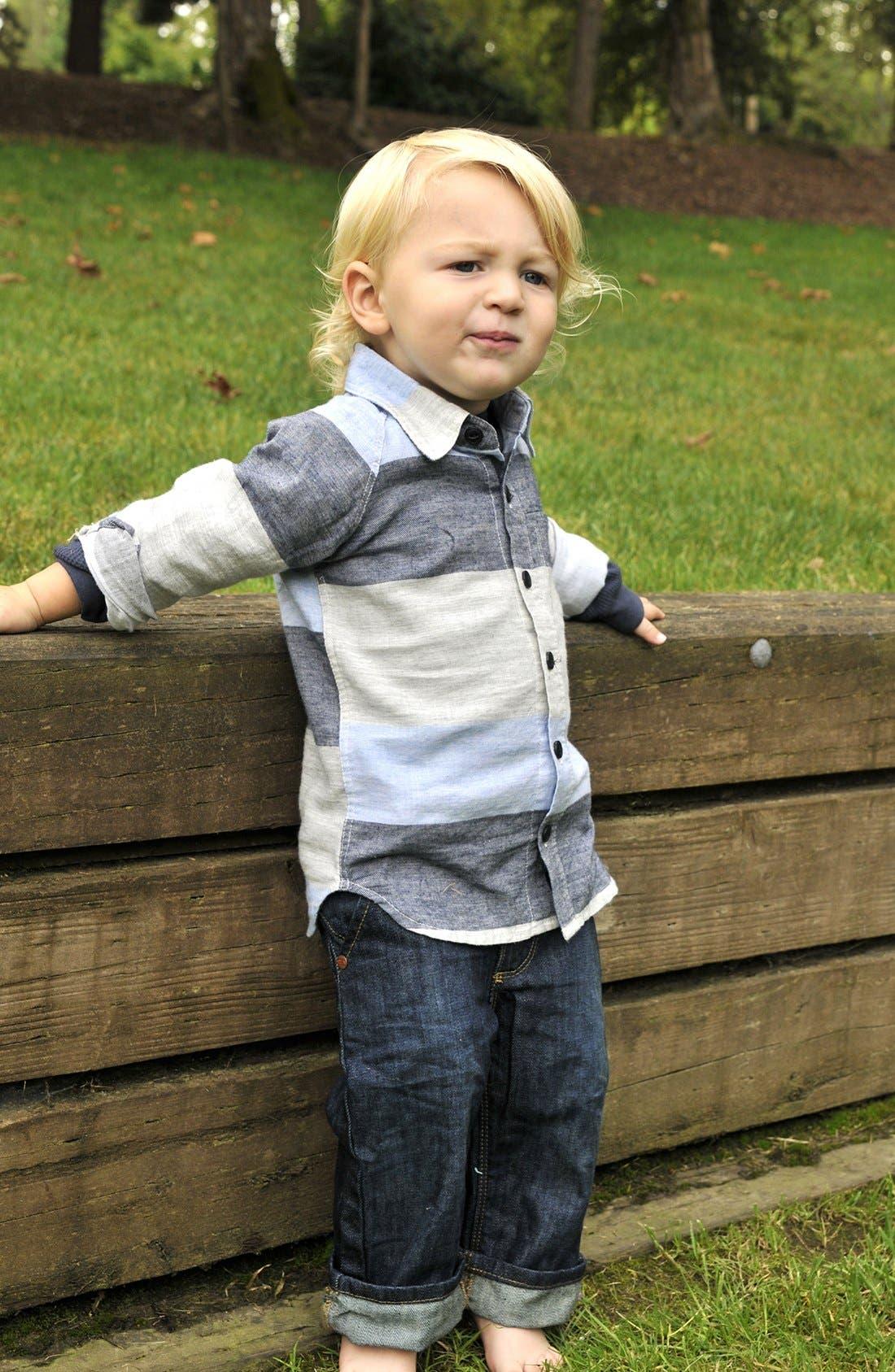 Alternate Image 2  - Peek 'Juan' Stripe Shirt (Baby Boys)