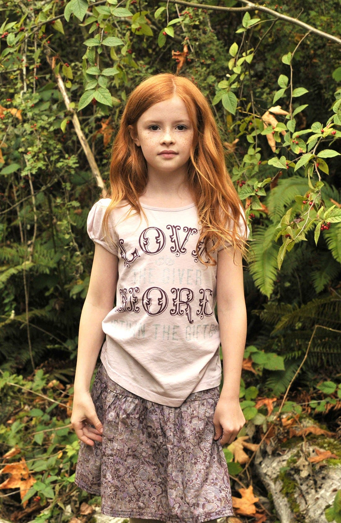Alternate Image 2  - Peek 'Love the Giver More Than the Gift' Tee (Toddler Girls, Little Girls & Big Girls)