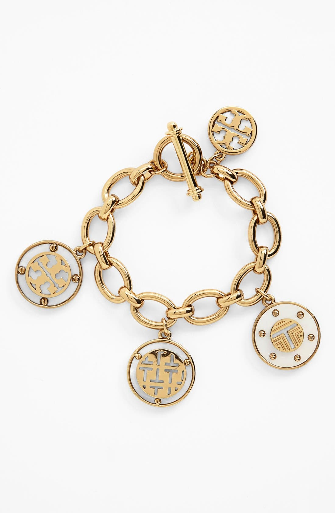 Main Image - Tory Burch 'Wren Logo T' Charm Bracelet