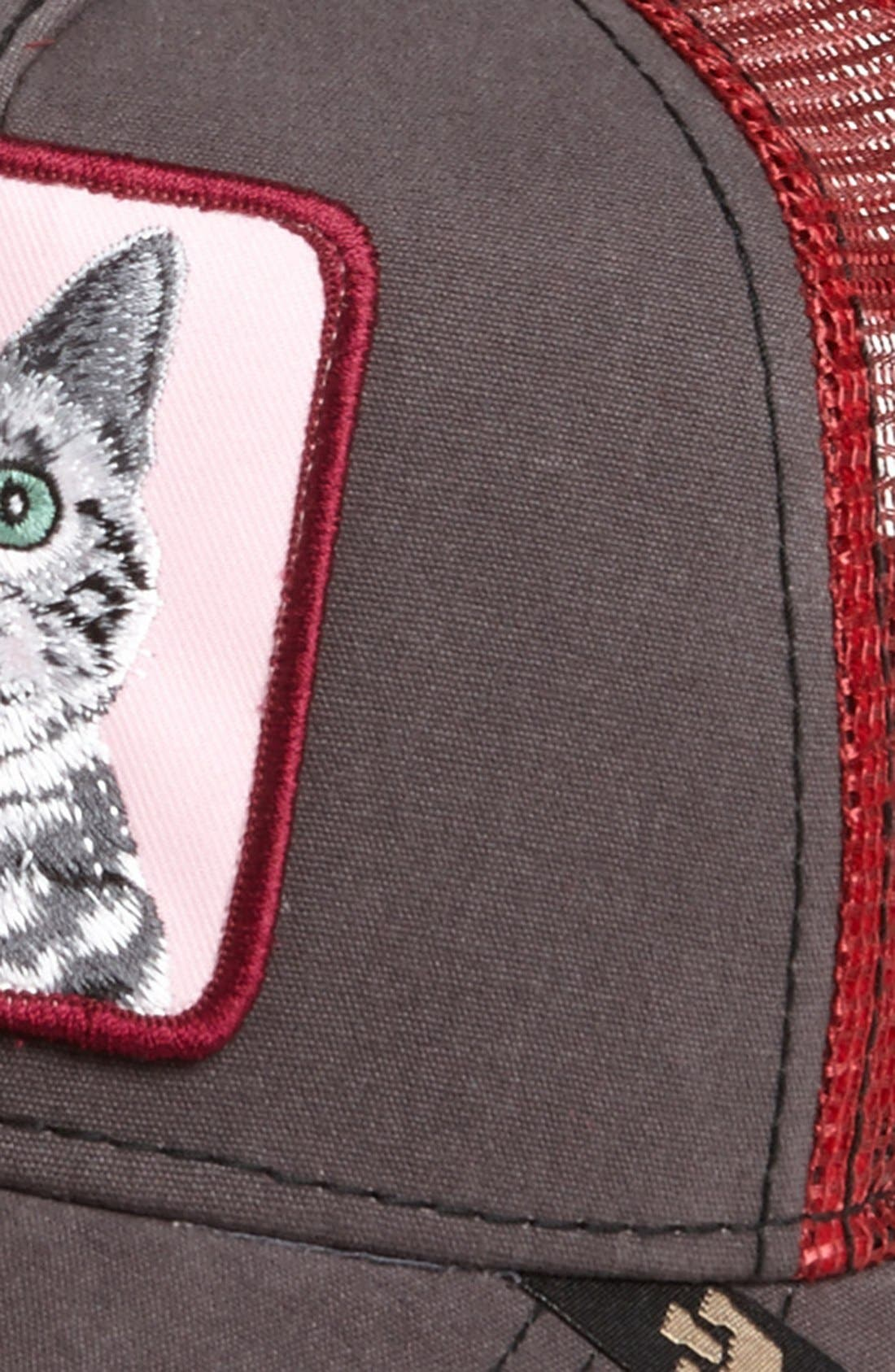 Alternate Image 3  - Goorin Brothers 'Animal Farm - Whiskers Cat' Trucker Hat