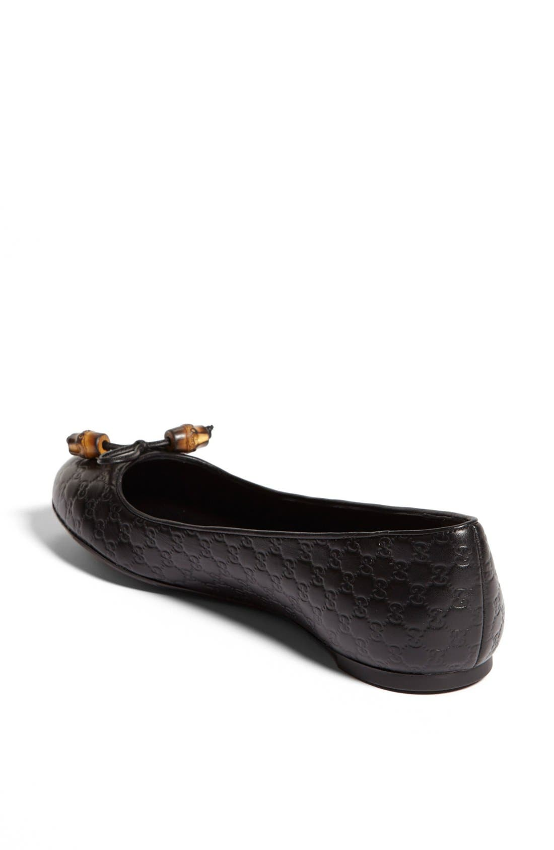 Alternate Image 2  - Gucci 'Sylvie' Bamboo Bow Ballet Flat