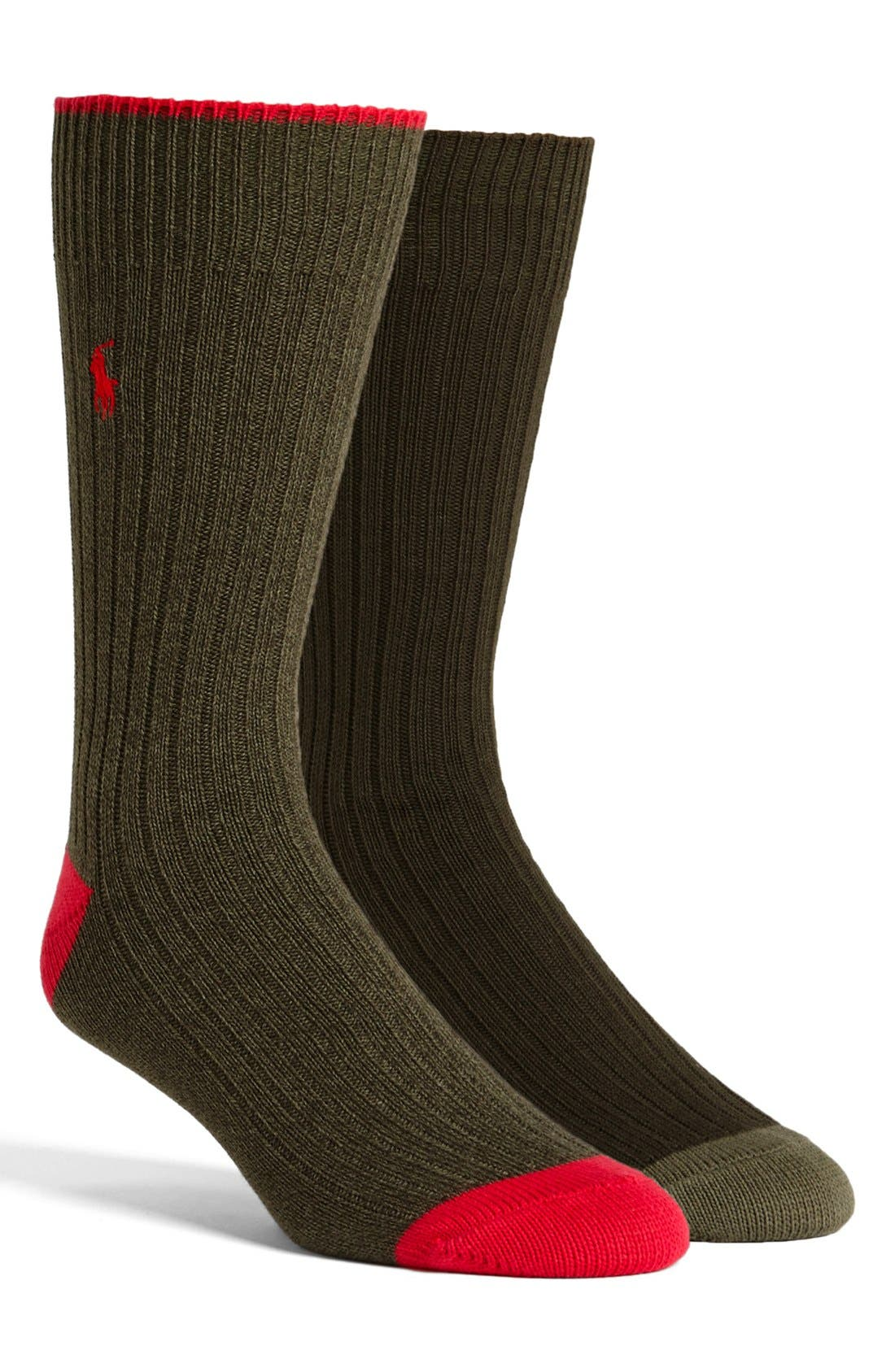 Alternate Image 1 Selected - Polo Ralph Lauren Ribbed Socks
