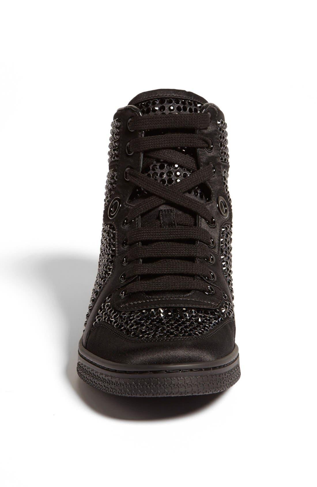 Alternate Image 3  - Gucci 'Coda' Crystal Stud High Top Sneaker