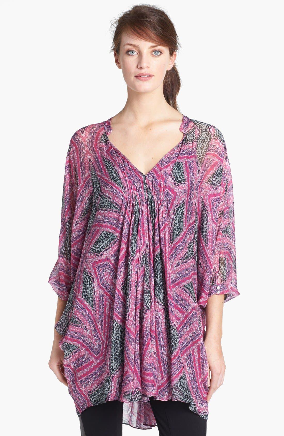 Main Image - Diane von Furstenberg 'Fleurette' Silk Tunic Dress