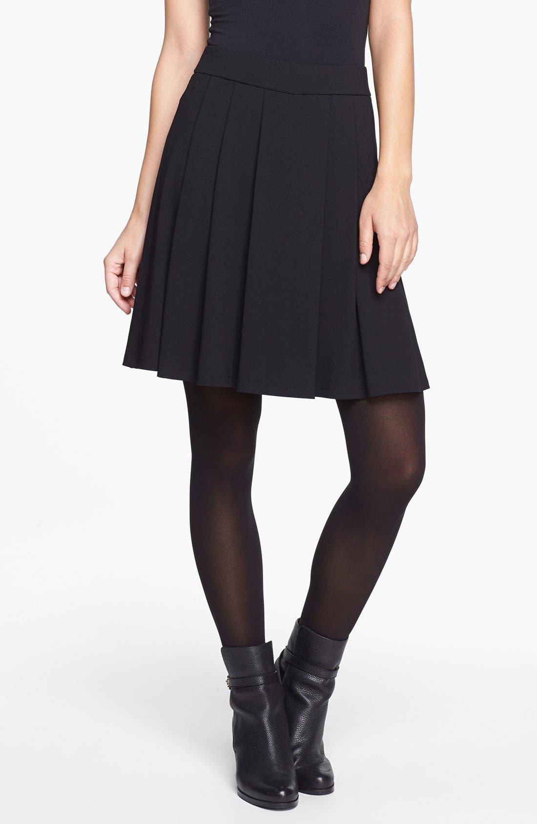 Main Image - Eileen Fisher Pleated Skirt (Regular & Petite)