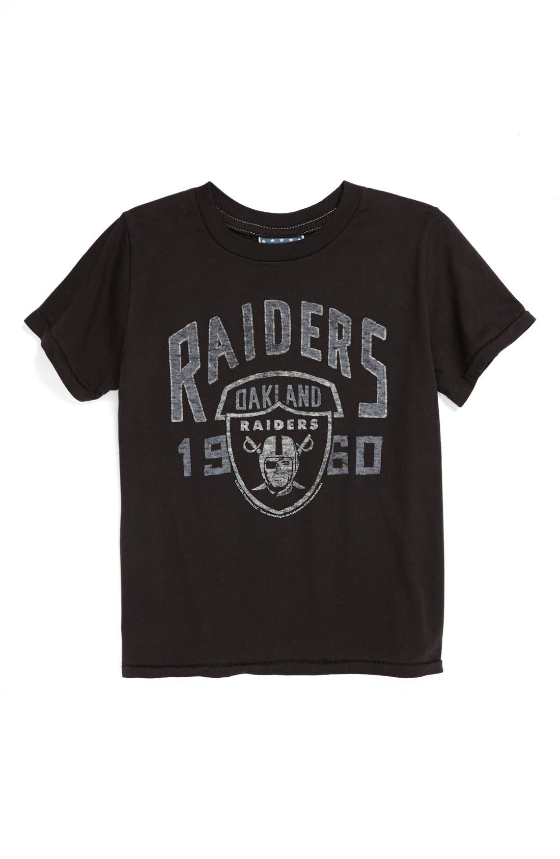 Alternate Image 1 Selected - Junk Food 'Oakland Raiders' T-Shirt (Toddler Boys)