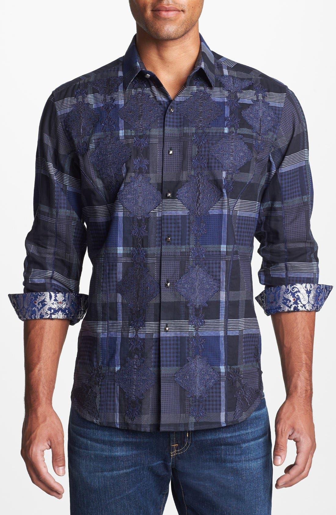 Alternate Image 1 Selected - Robert Graham 'Malachite' Regular Fit Sport Shirt (Limited Edition)