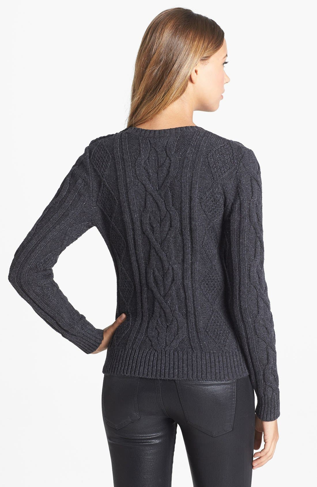 Alternate Image 2  - Caslon® Cable Knit Sweater