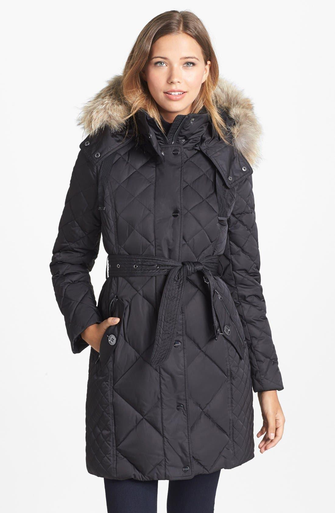 Alternate Image 1 Selected - London Fog Genuine Coyote Fur Trim Down Coat