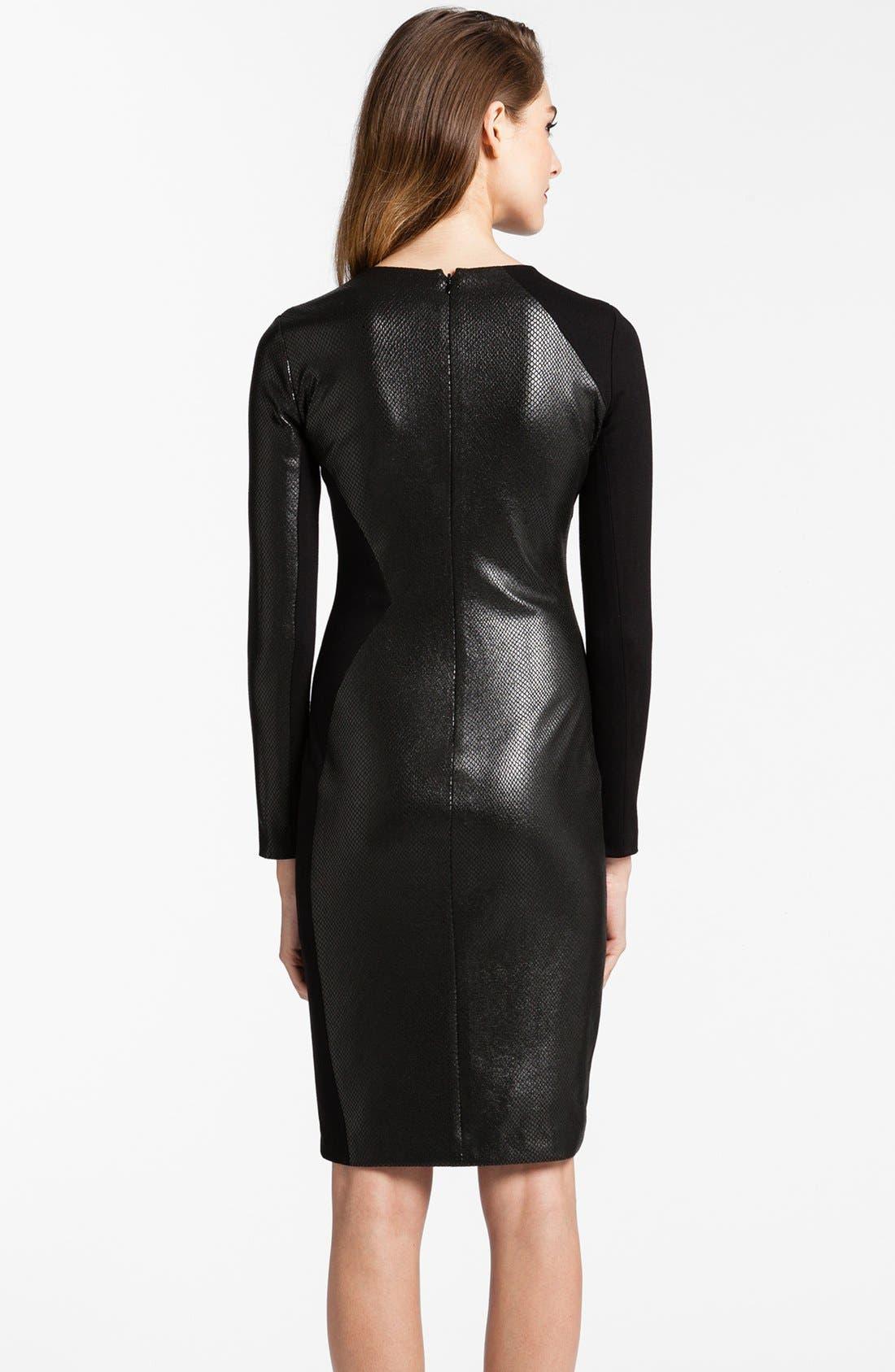 Alternate Image 2  - Cynthia Steffe 'Leni' Faux Leather Body-Con Dress