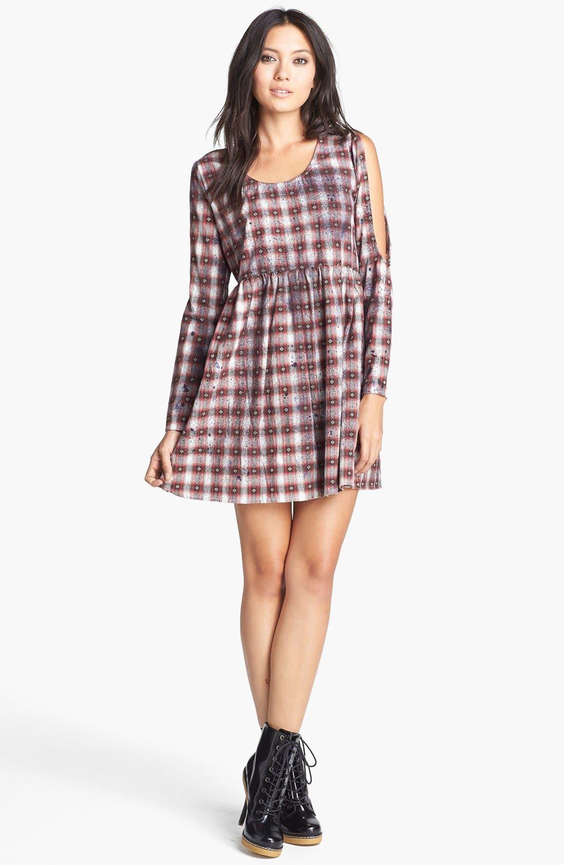 Main Image - MINKPINK 'Easy Going' Print Babydoll Dress