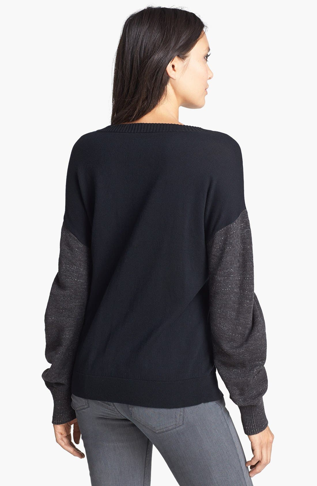Alternate Image 2  - Leith French Terry V-Neck Sweater
