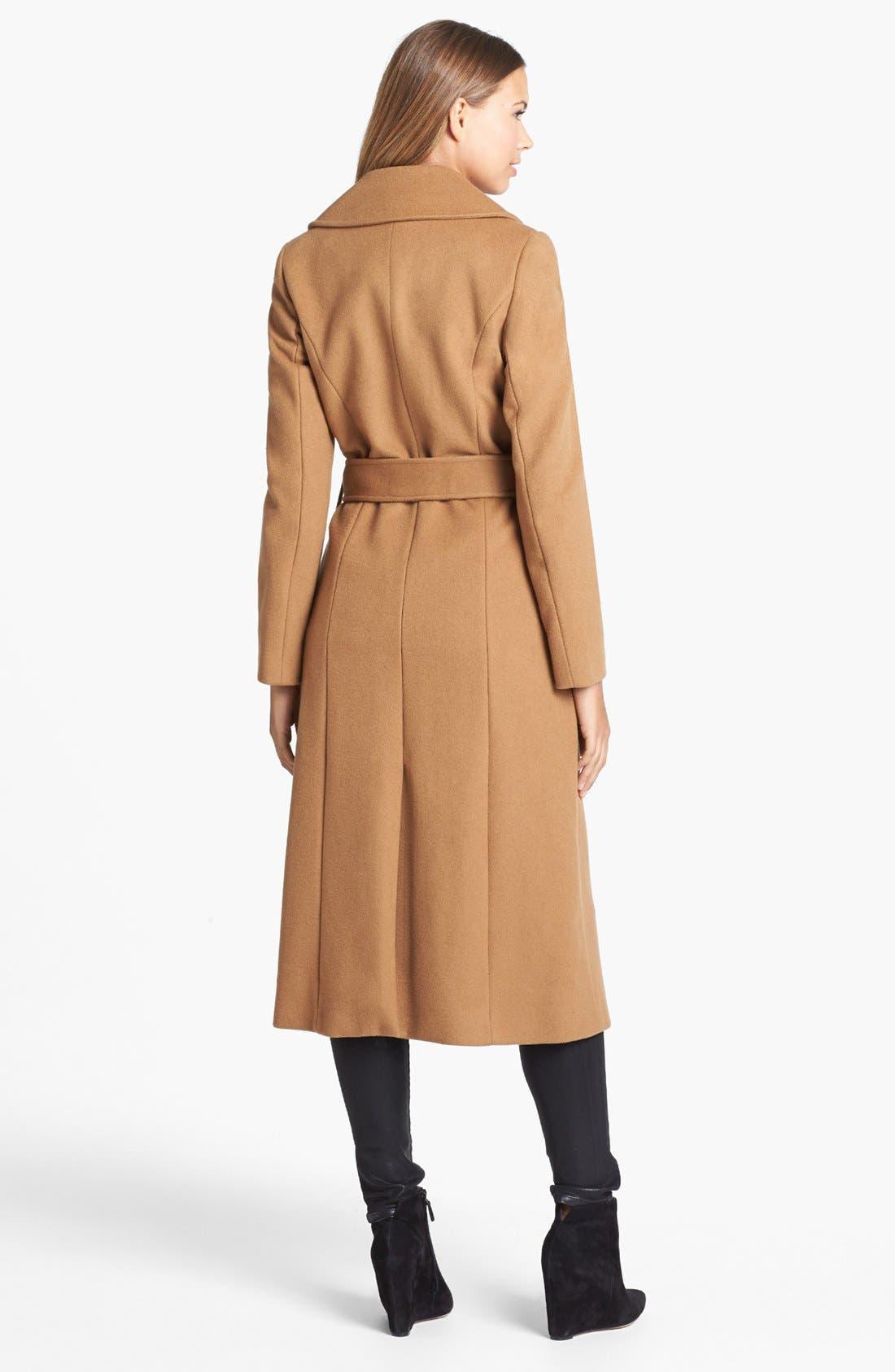 Alternate Image 2  - George Simonton Couture Long Wool Blend Wrap Coat