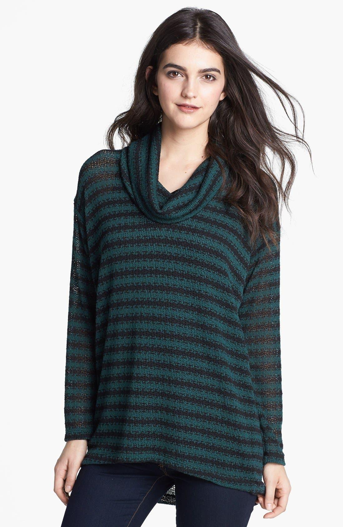 Main Image - Splendid Cowl Neck Stripe Sweater